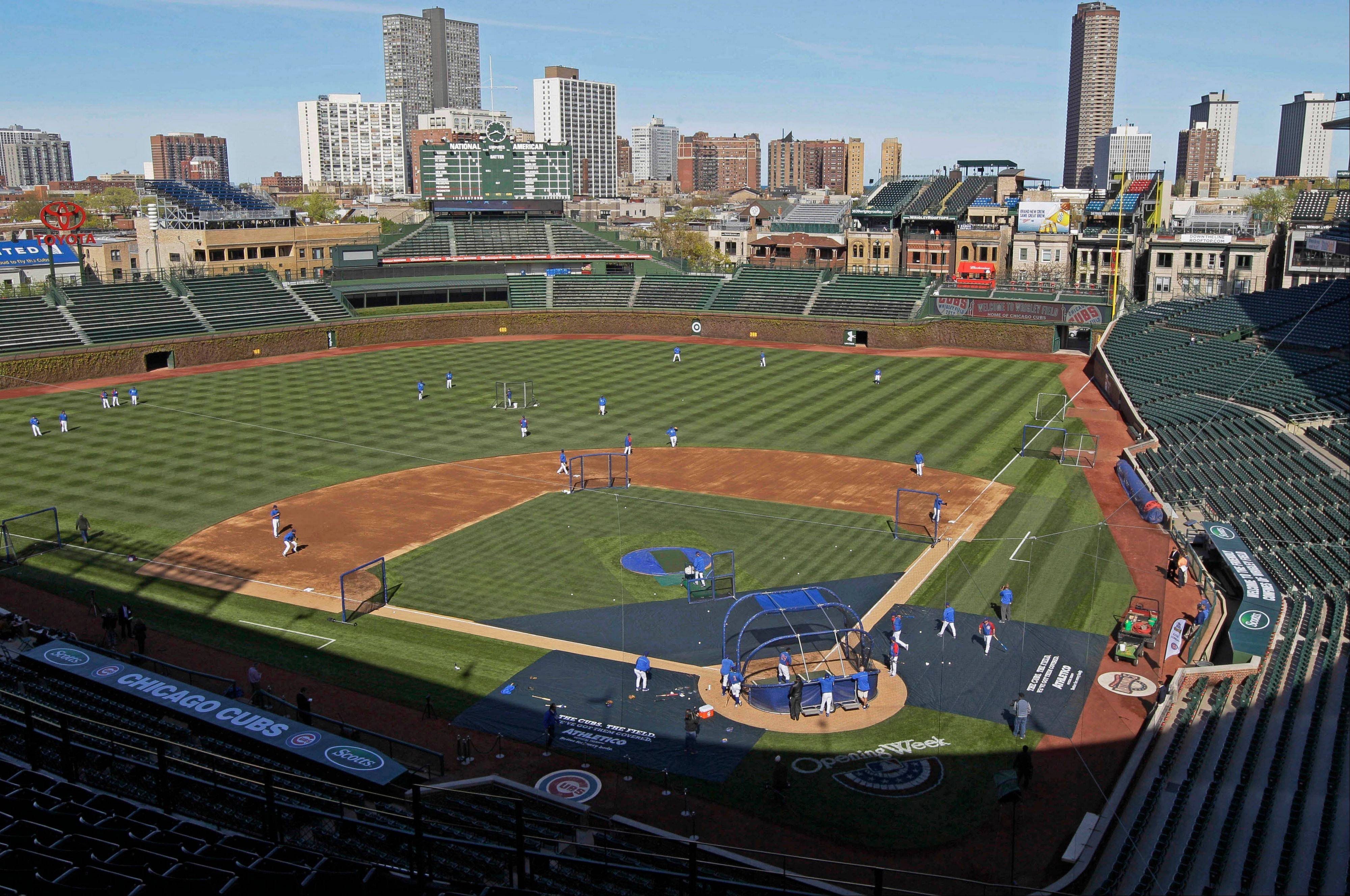 This view of Wrigley Field from 2012 might be much different by 2014. The planned $500 million renovation probably will include a 6,000-square-foot video screen above the left-field bleachers.