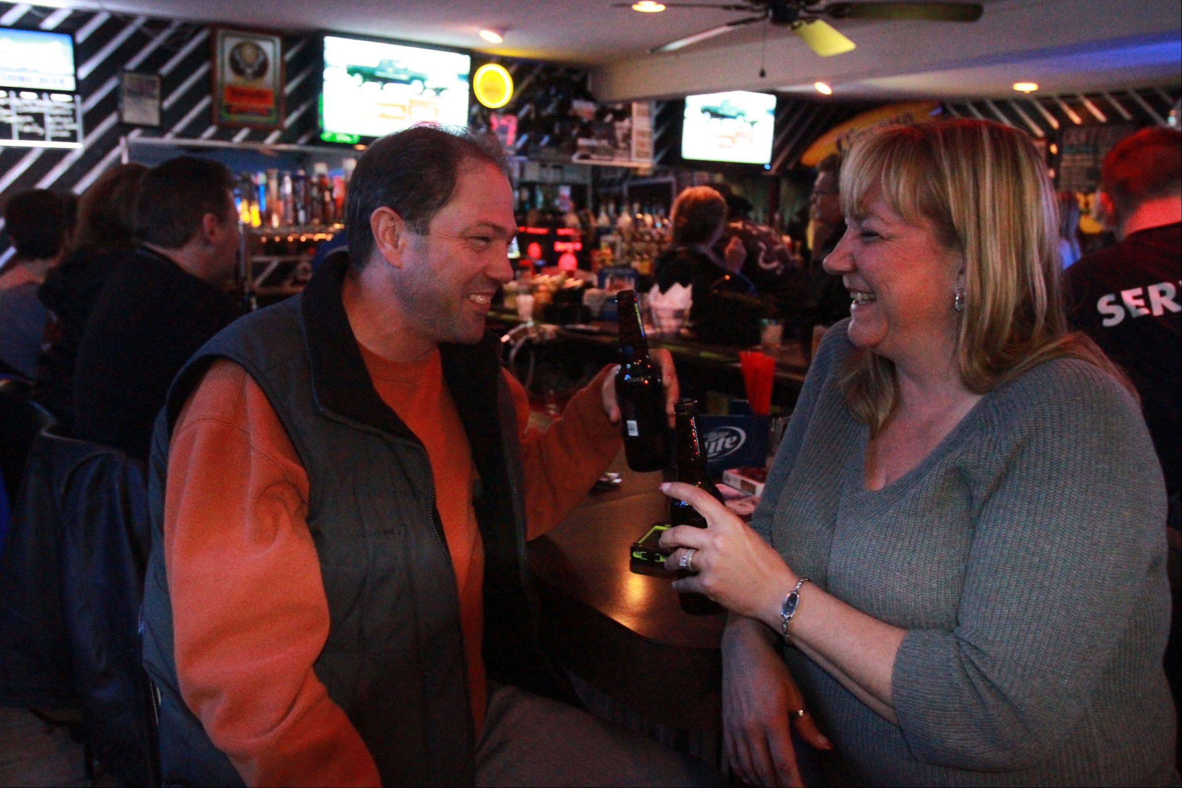 Rich and LeeAnne Sifrer of Wonder Lake met at Route 12 Bar & Grill. They were married just a month ago and held their reception at the Fox Lake bar.