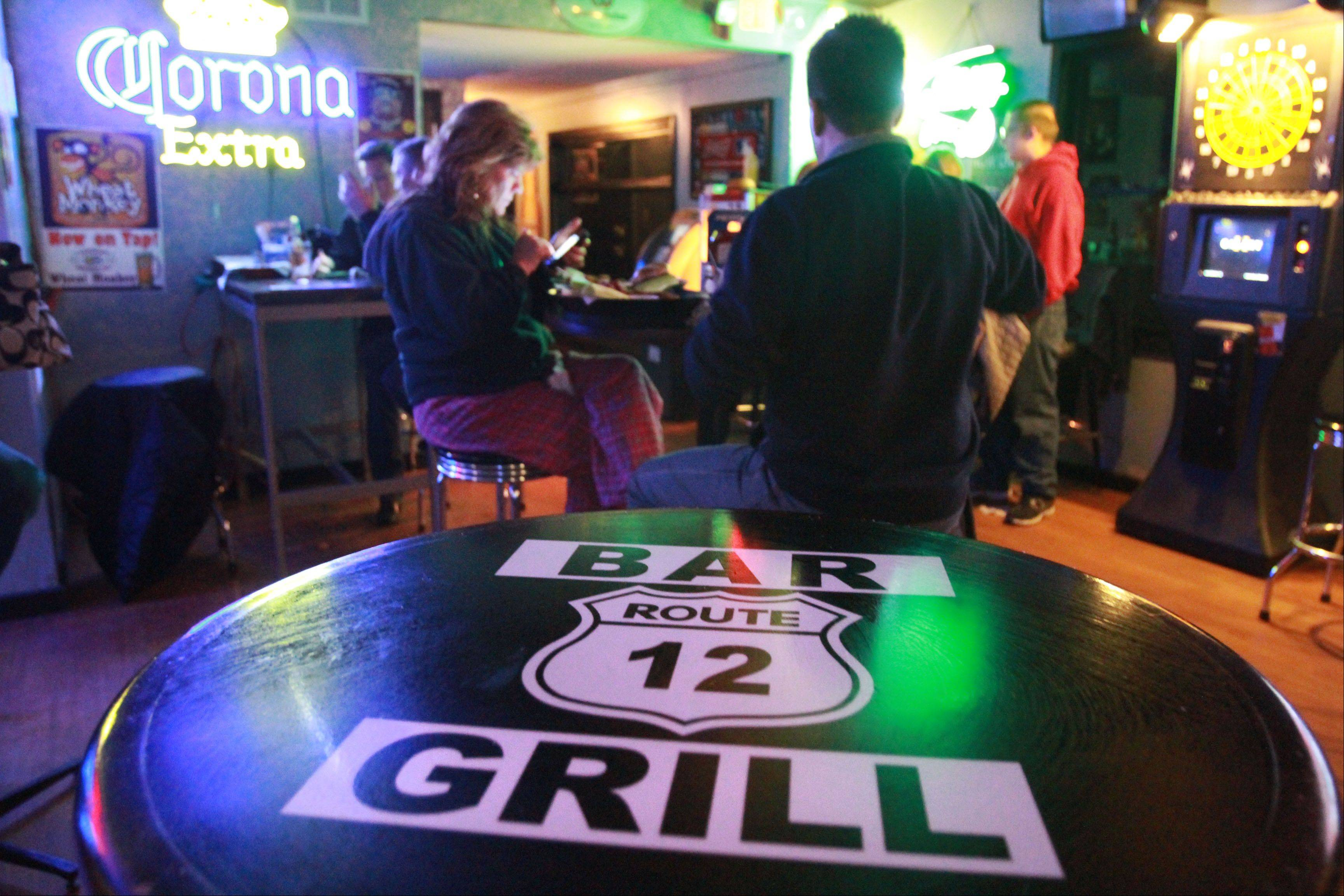 Route 12 Bar & Grill in Fox Lake attracts patrons who want to relax, watch a game, and savor a beer and a burger.