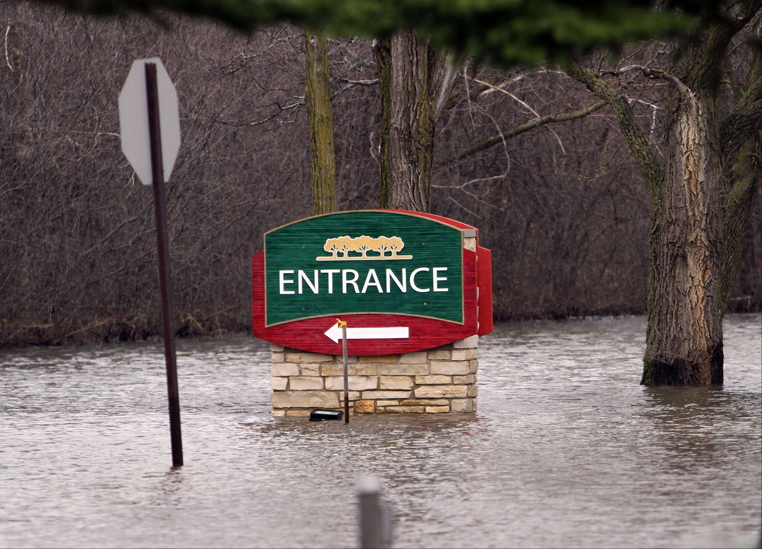 The Lincolnshire Marriott Resort was closed Friday due to flooding and a power outage.