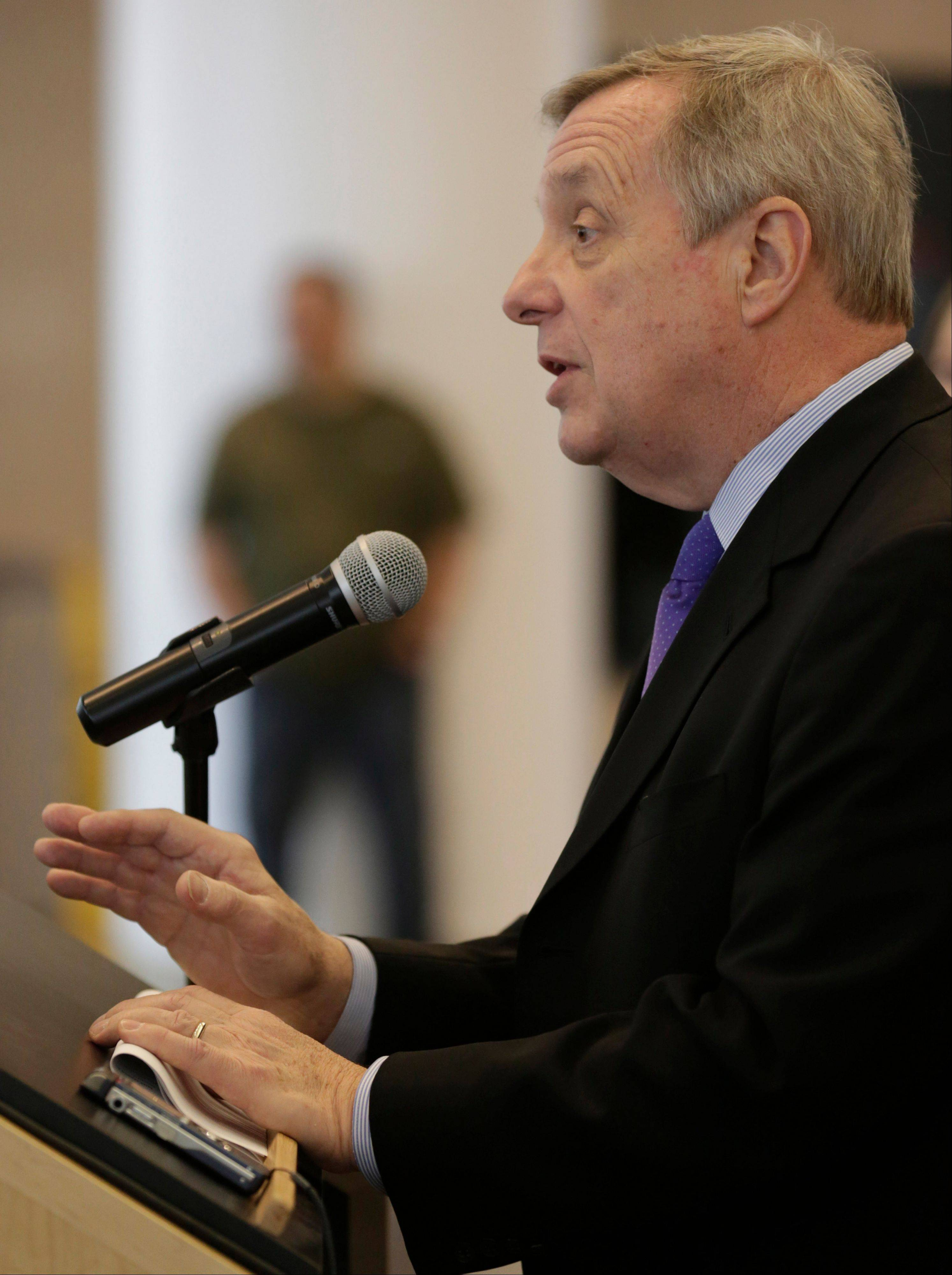 Sen. Dick Durbin said a bipartisan immigration bill introduced this week would enhance national security.