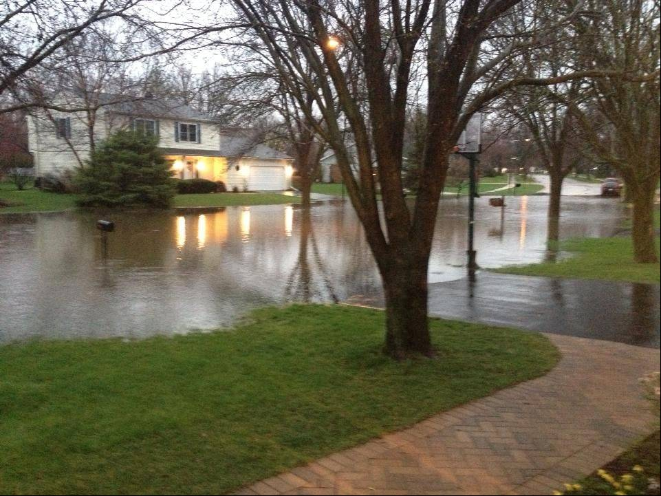 Flooding in Naperville.