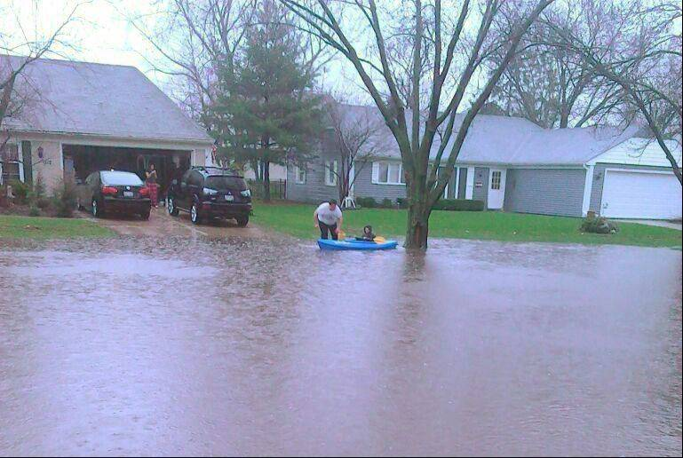 Flooding in Oswego.