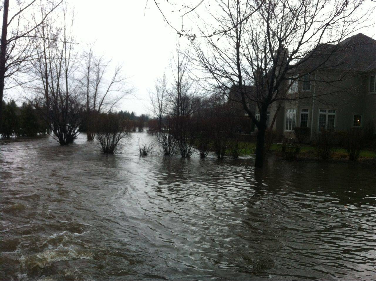 Flooding in the Stonebridge subdivision in Aurora