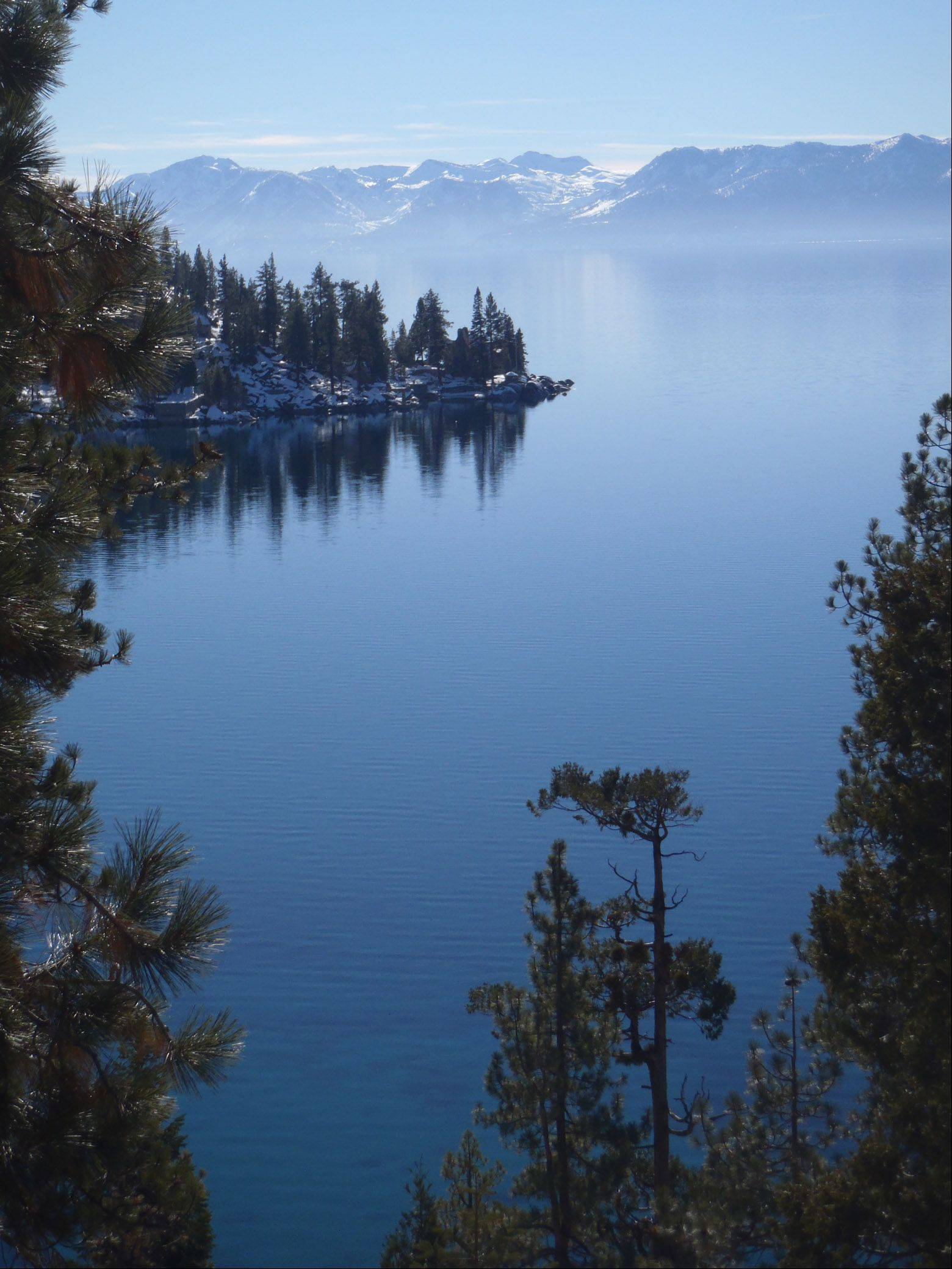 Here is a photo taken in Lake Tahoe, CA. during our annual ski trip this year. It was a beautiful day and we stopped at Emerald Bay while on a sight seeing drive around the lake.