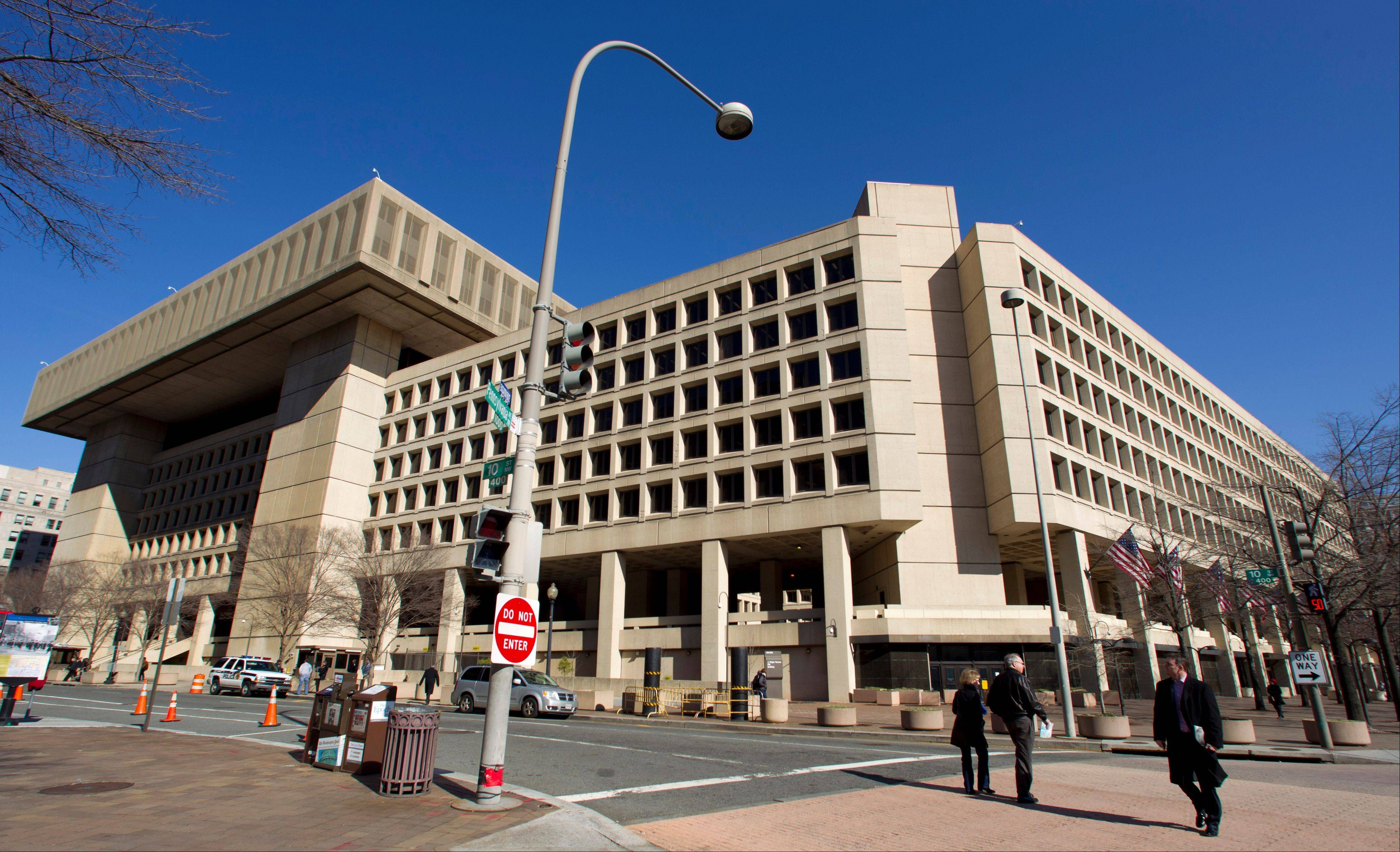 Associated Press/Feb. 3, 2012 The Federal Bureau of Investigation headquarters on Pennsylvania Avenue in Washington, which opened in 1974.