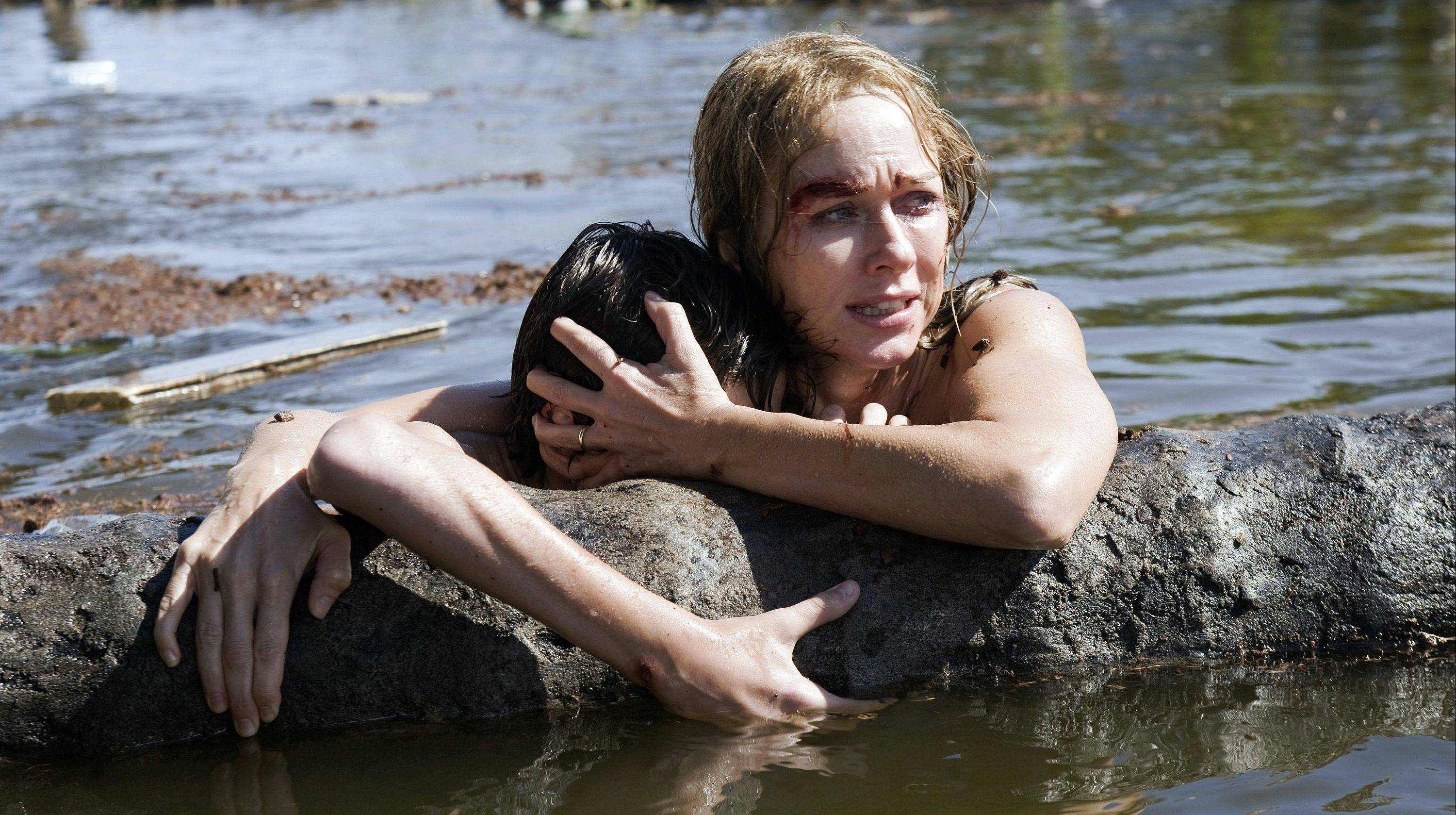 Naomi Watts plays a woman who survives a tsunami in the fact-based drama �The Impossible.�