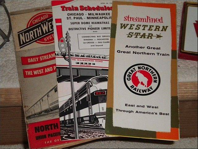 Authentic railroad schedules are some of the items highlighted at the 32nd Annual Chicagoland Railroad and Collectibles Show at Harper College in Palatine.
