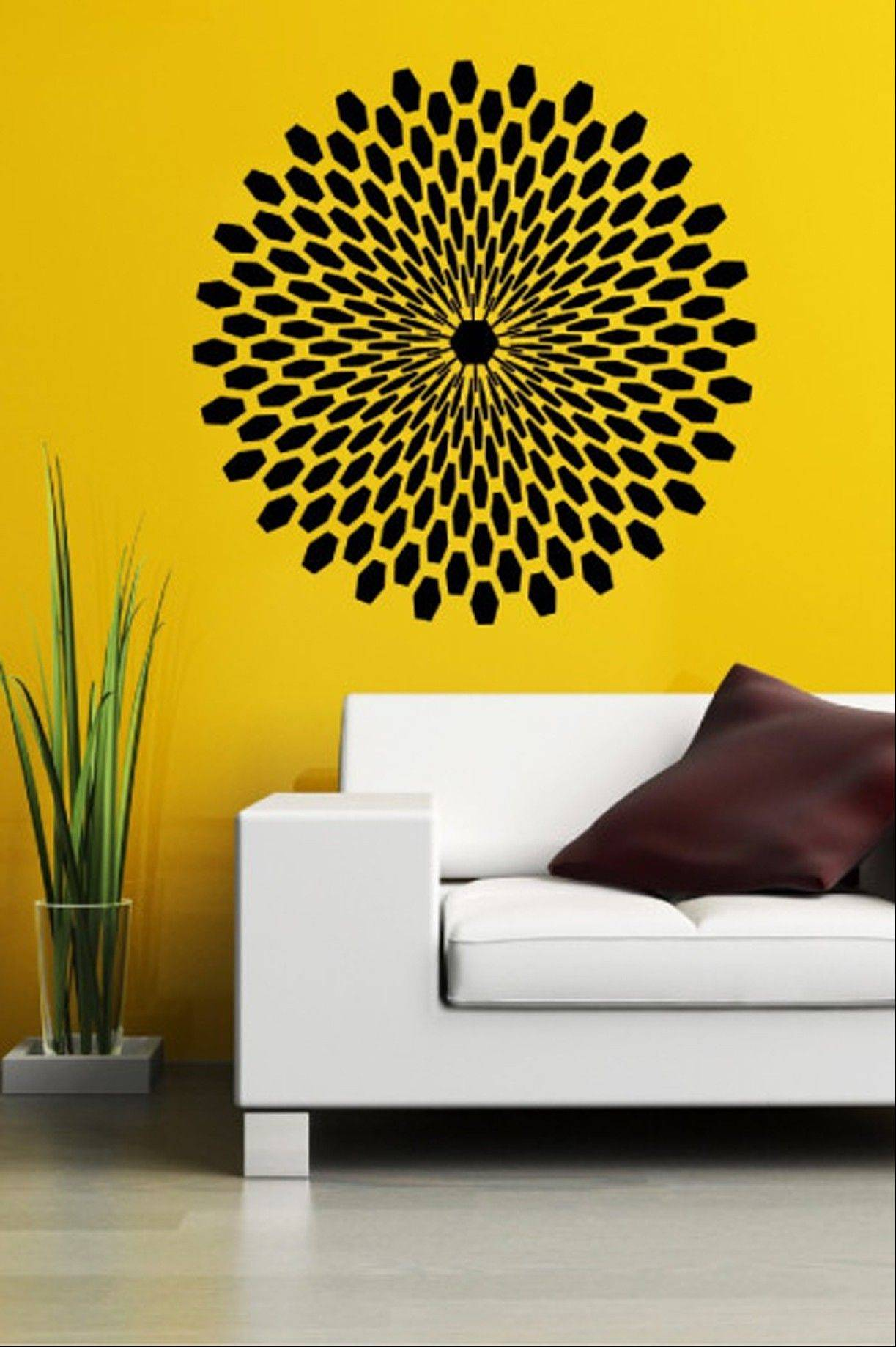 Decals are growing in popularity because they can easily be installed and removed without damaging walls or paint.