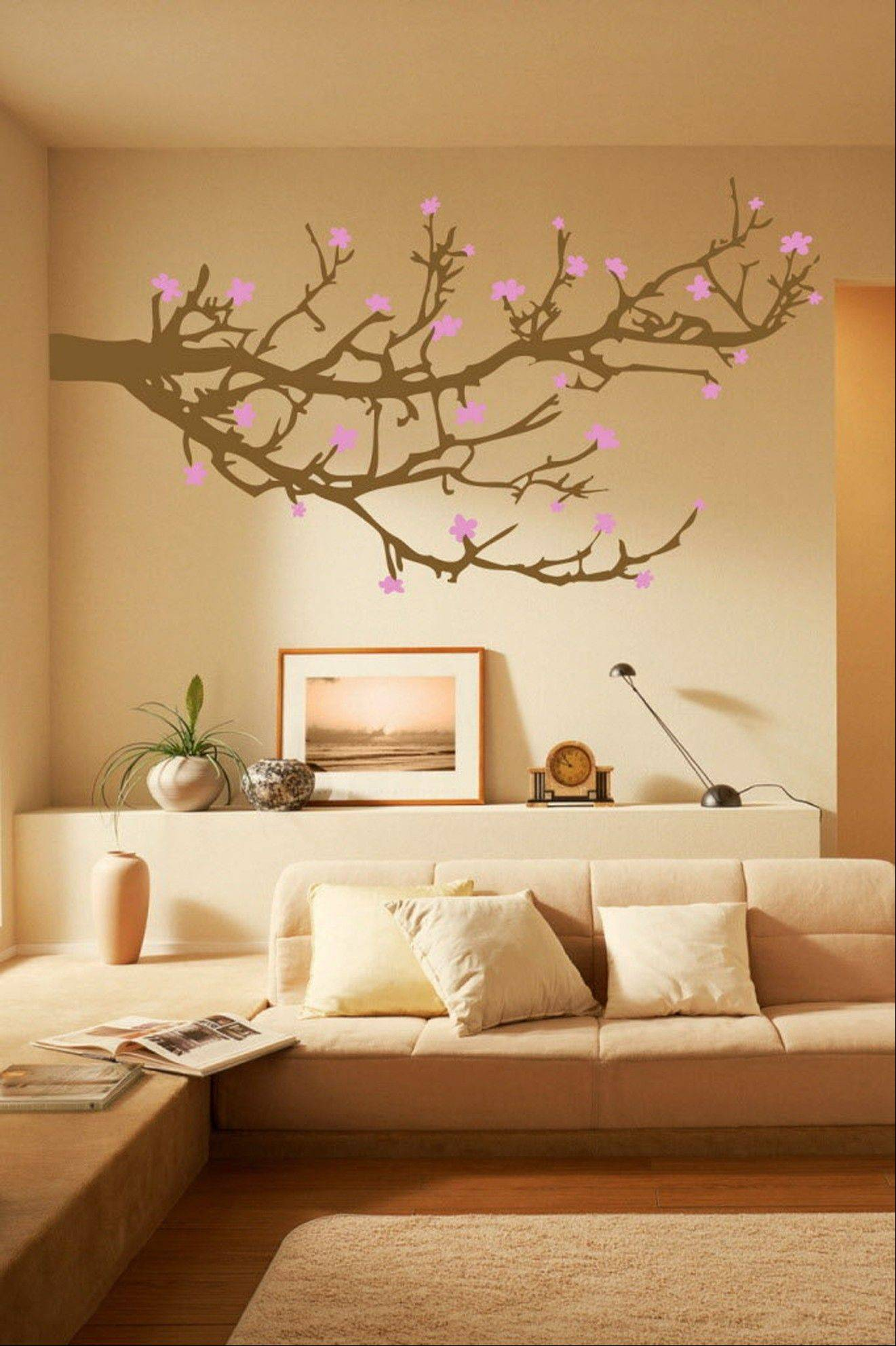 WALLTAT.com offers this Branches and Blossoms wall decal. The decals are growing in popularity because they can easily be installed and removed without damaging walls or paint.