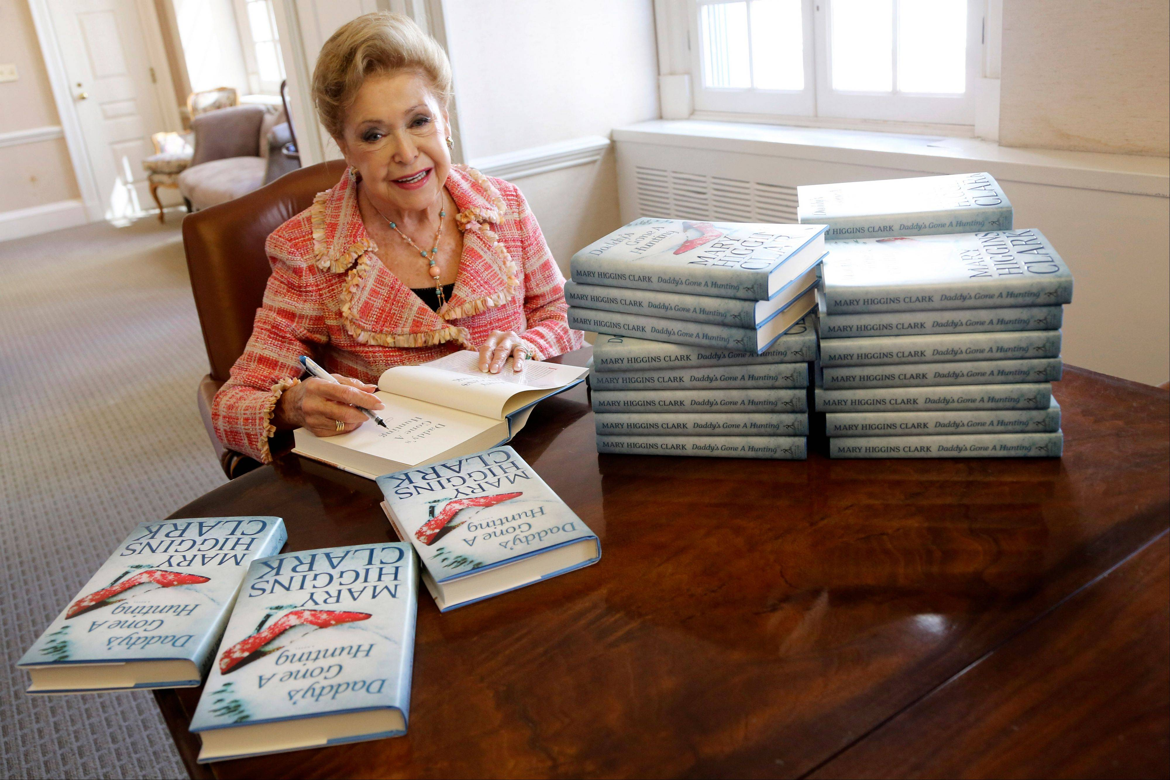 Author Mary Higgins Clark's current book is a vintage thriller featuring women in distress, mysterious pasts and secret identities.