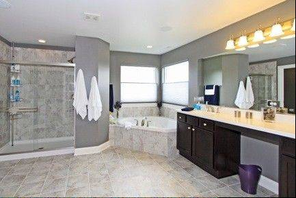 This luxury bath is part of the Dunberry's master suite.