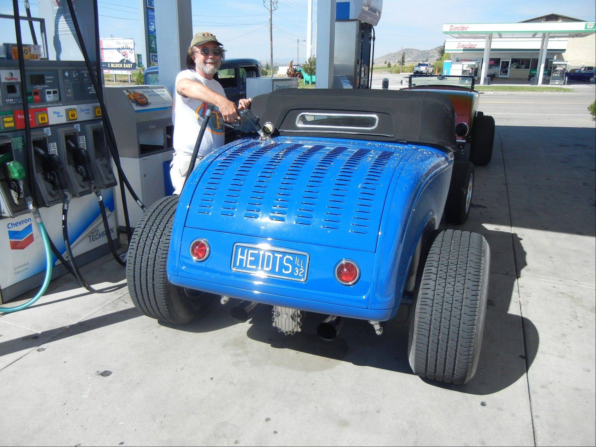 Heidt quickly put 2,500 miles on his '32 roadster after completing it last year.