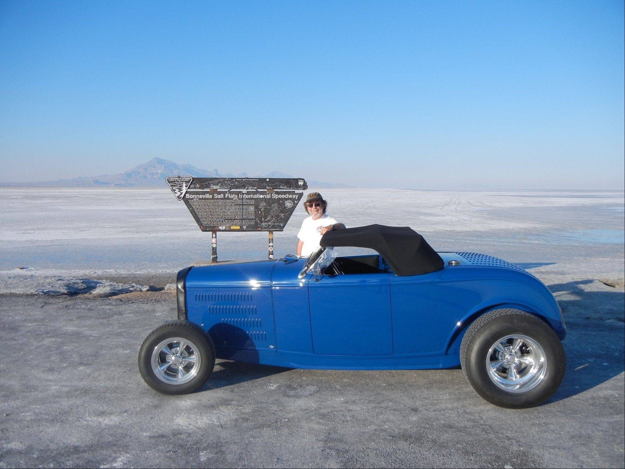 Heidt fulfilled a longtime dream when he drove on the Bonneville Salt Flats in Utah.