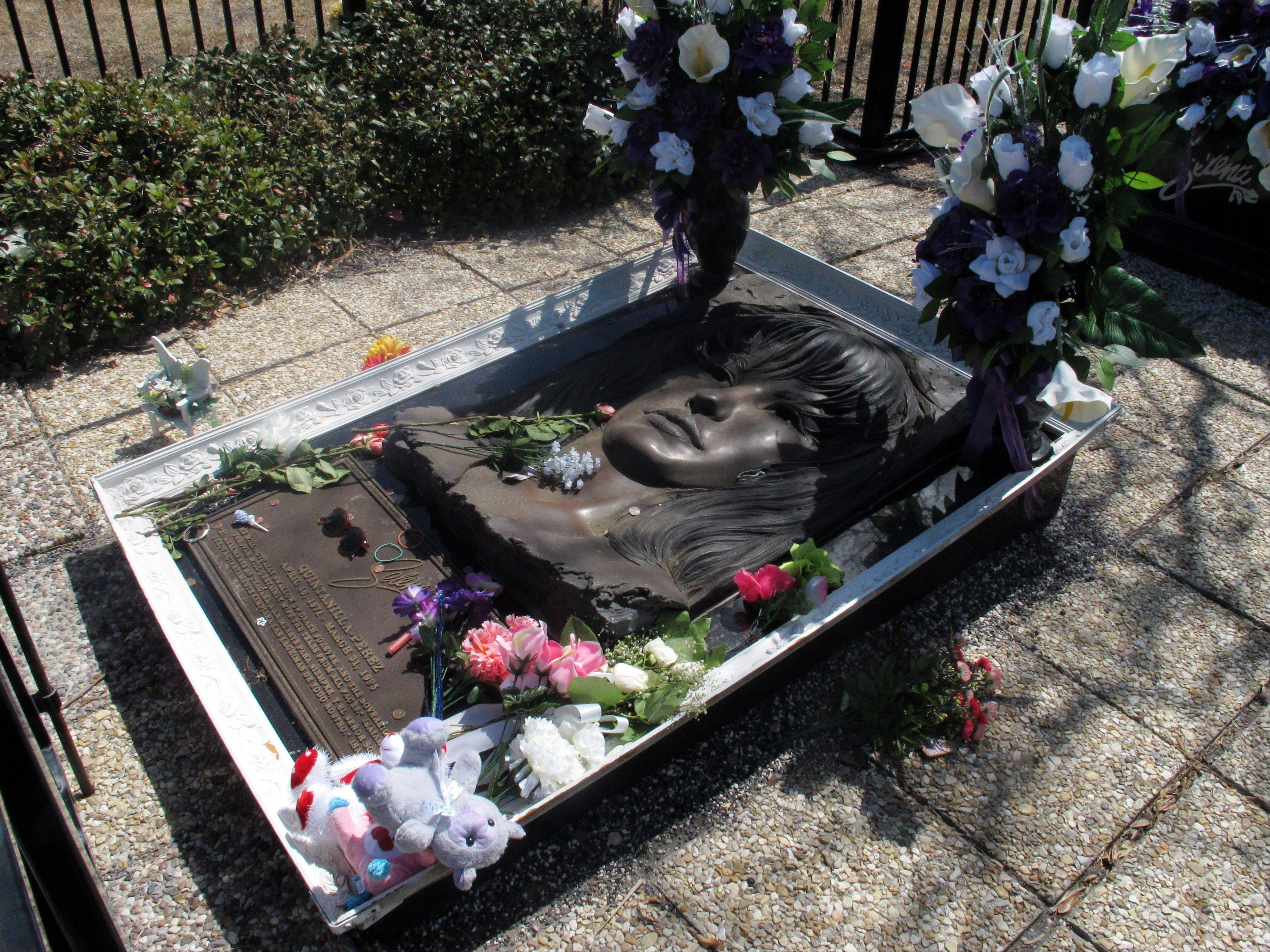 The resting place of the late Tejano singer Selena is shown at the Seaside Memorial Park in Corpus Christi, Texas.