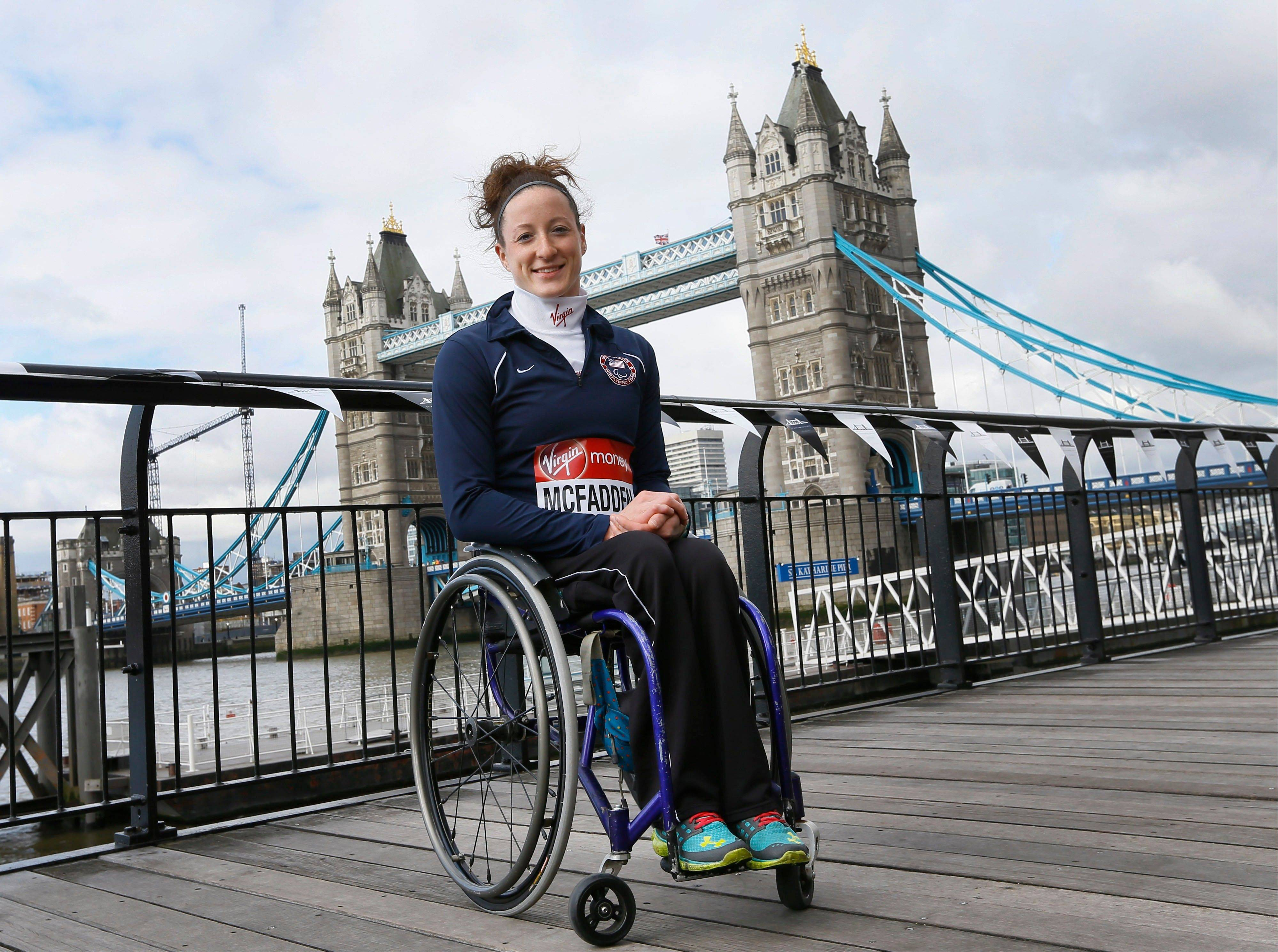 United States elite wheelchair athlete Tatyana McFadden, and winner of the Women's Wheelchair Boston Marathon, will race in Sunday's London Marathon despite security fears in the wake of the bomb blasts in the Boston.
