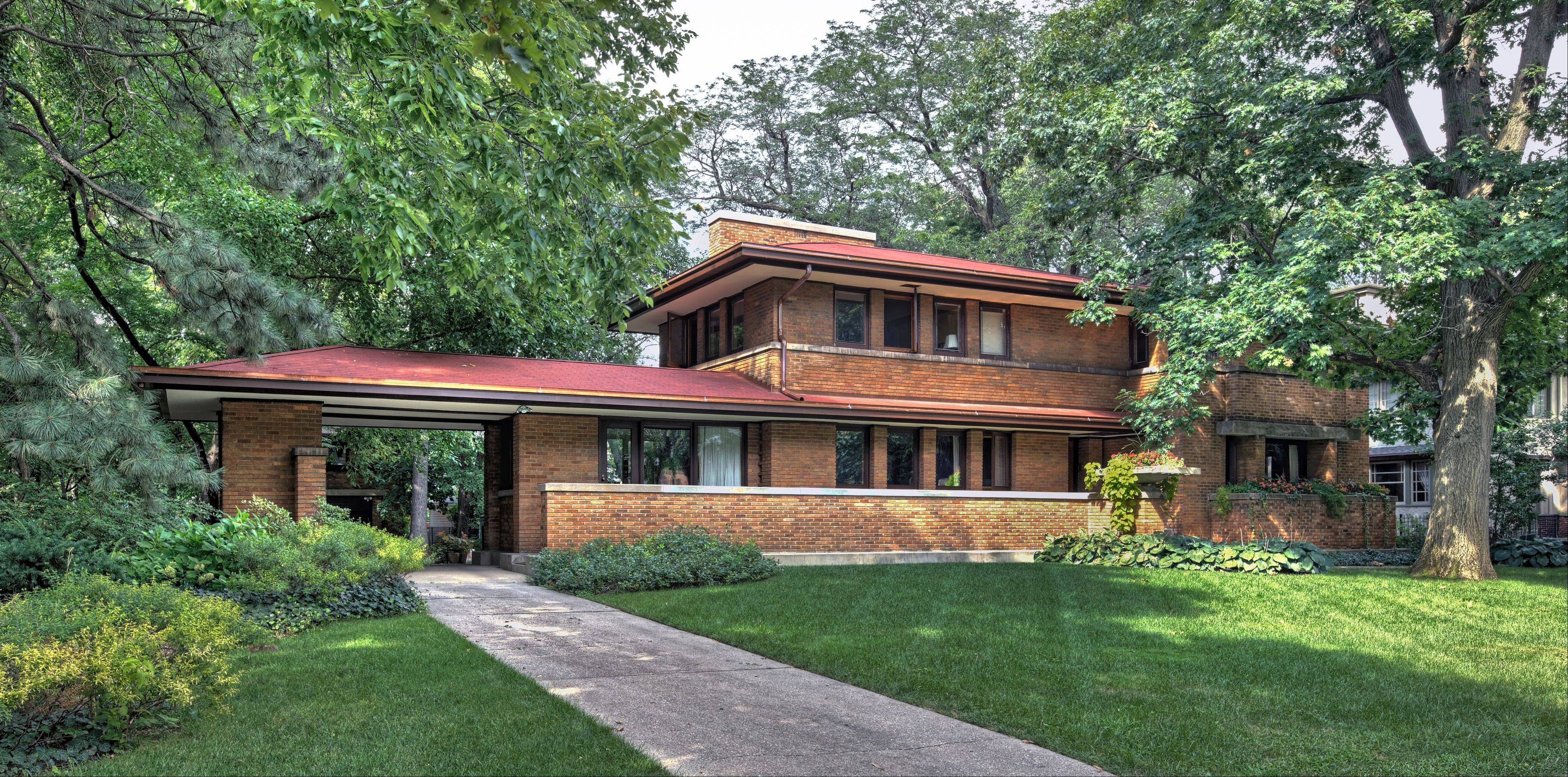 The Harry S. Adams House (1913), Frank Lloyd Wright's final Oak Park commission, will be on the Wright Plus 2013 Architectural Housewalk.