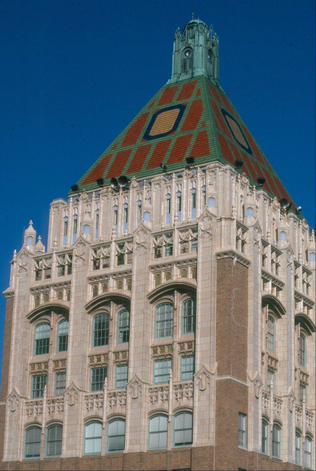 The Philtower Building is one of a number of notable Art Deco treasures in Tulsa mostly built in the 1920s during an oil boom.