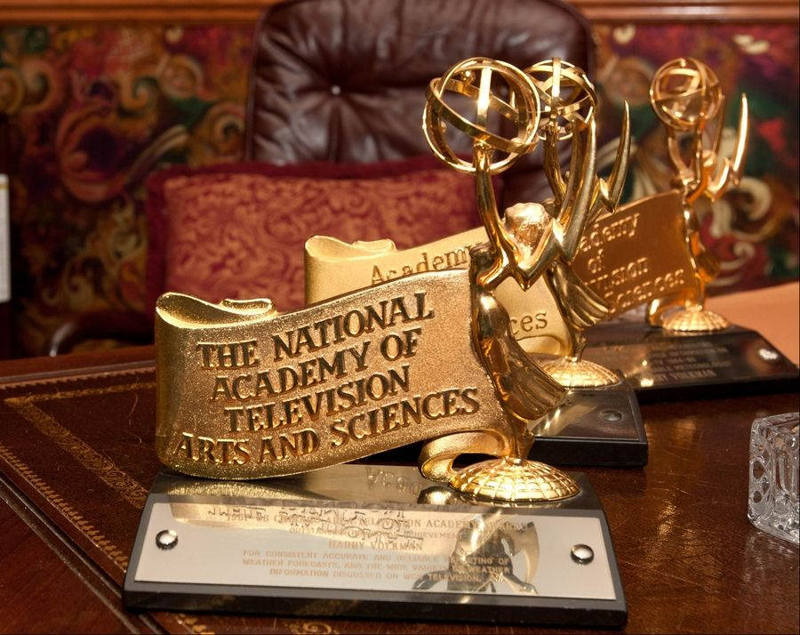 Longtime TV meteorologist Harry Volkman, the man who inspired a young Tom Skilling to get passionate about the weather, won these three Emmy Awards during the 1960s.