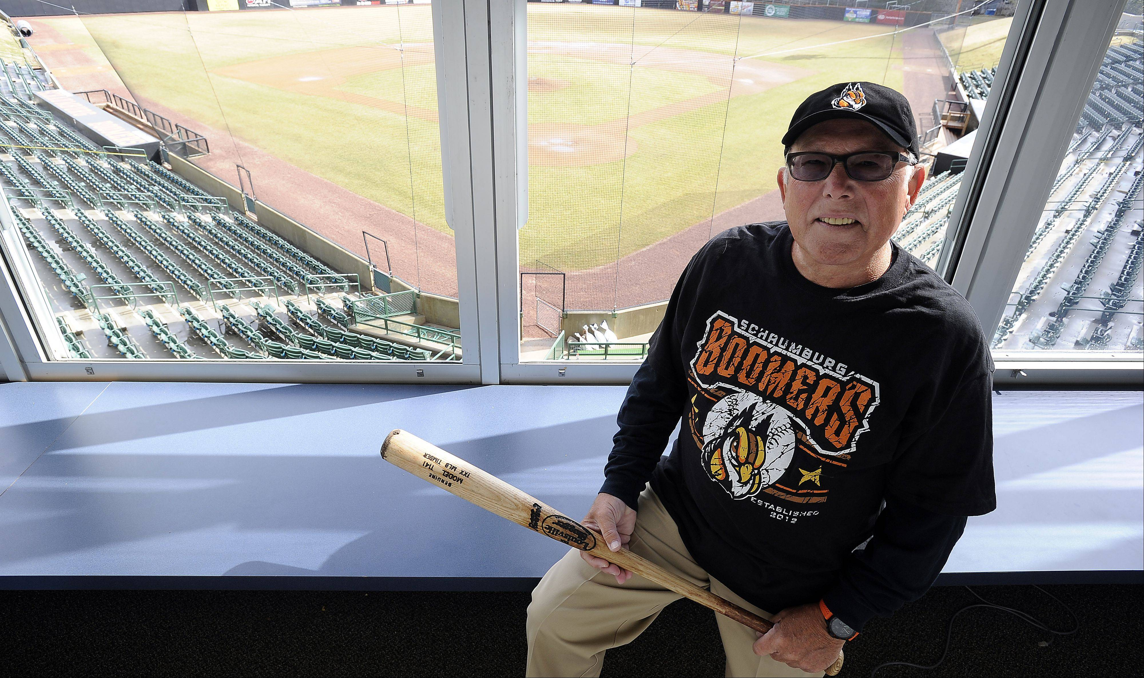 As a retiree, Art Racek of Roselle works several jobs, including one at the Schaumburg Boomers Stadium.