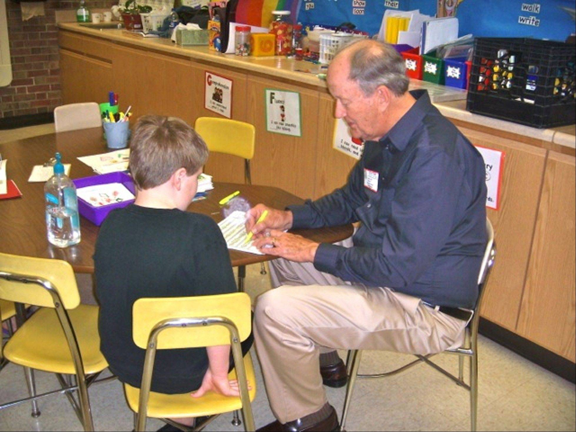 The Rev. Jim Ilten of Lombard officially retired in 1997, but hasn't stopped working yet. He continues to minister to seniors in several communities and recently started working with Project Tutor at Schafer School in Lombard, helping first-graders every Tuesday morning.