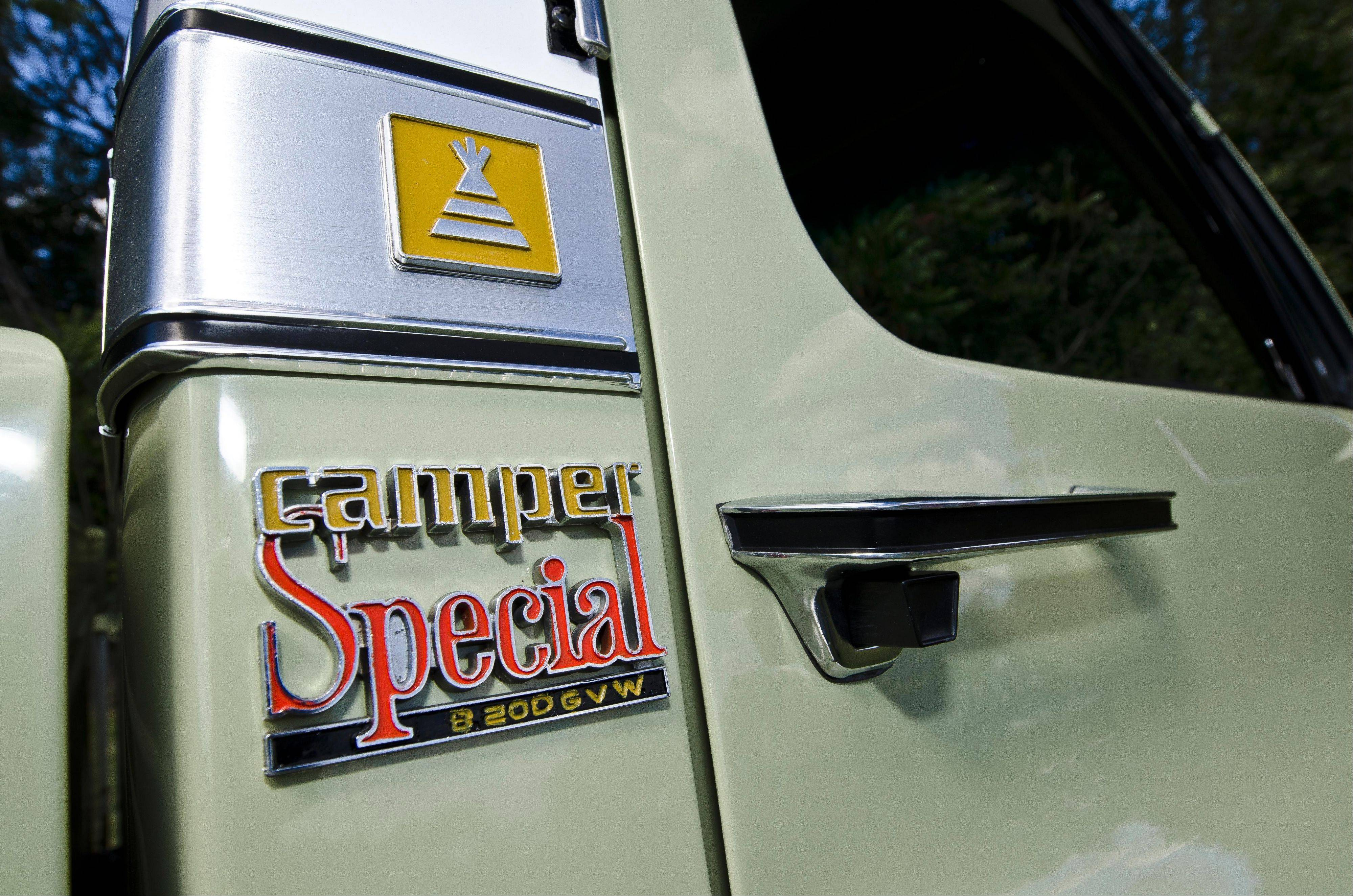 A Camper Special badge indicates this GMC pickup was built for hauling campers and trailers.