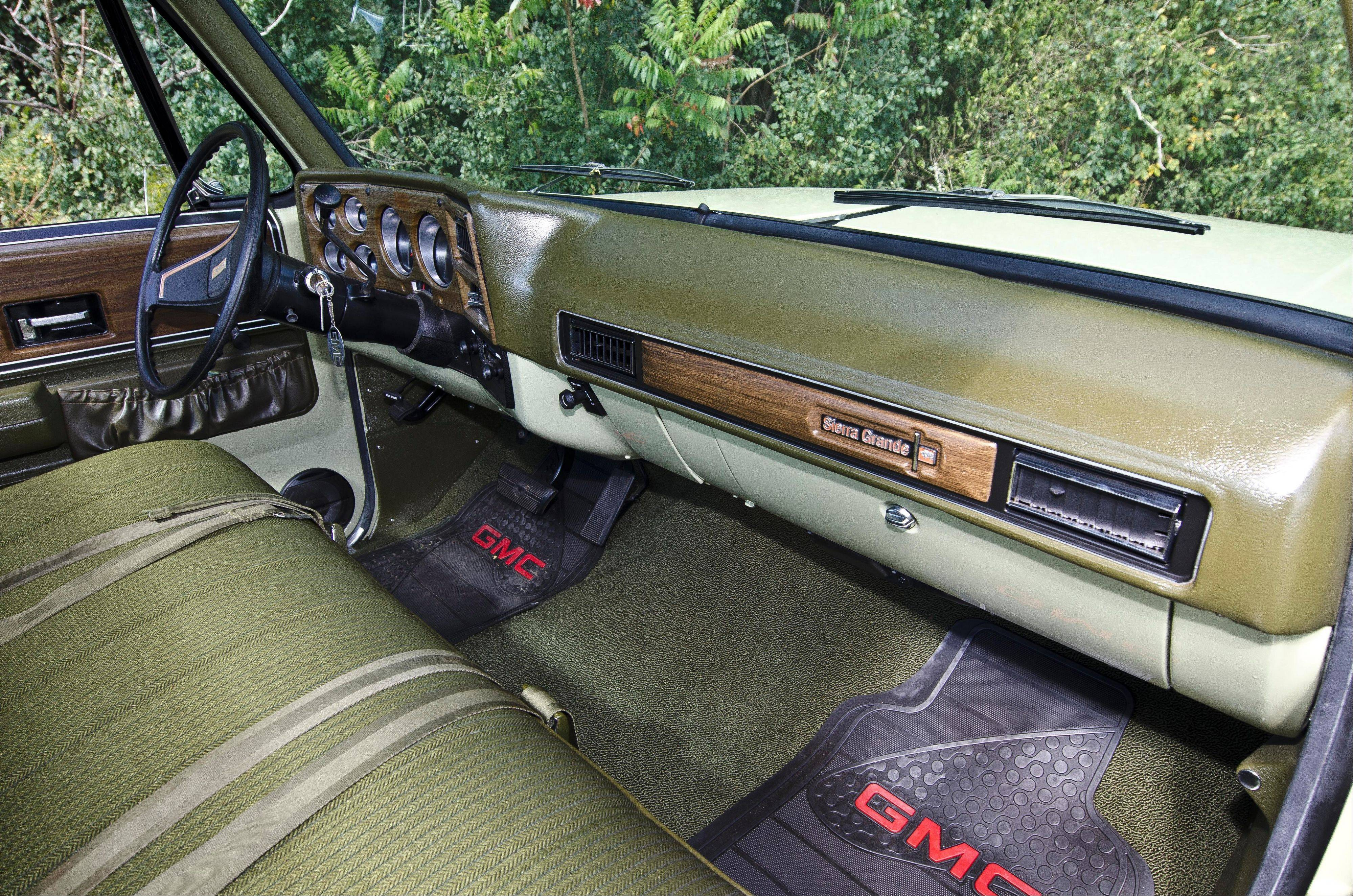The interior has been reupholstered in original Avocado Green fabric.