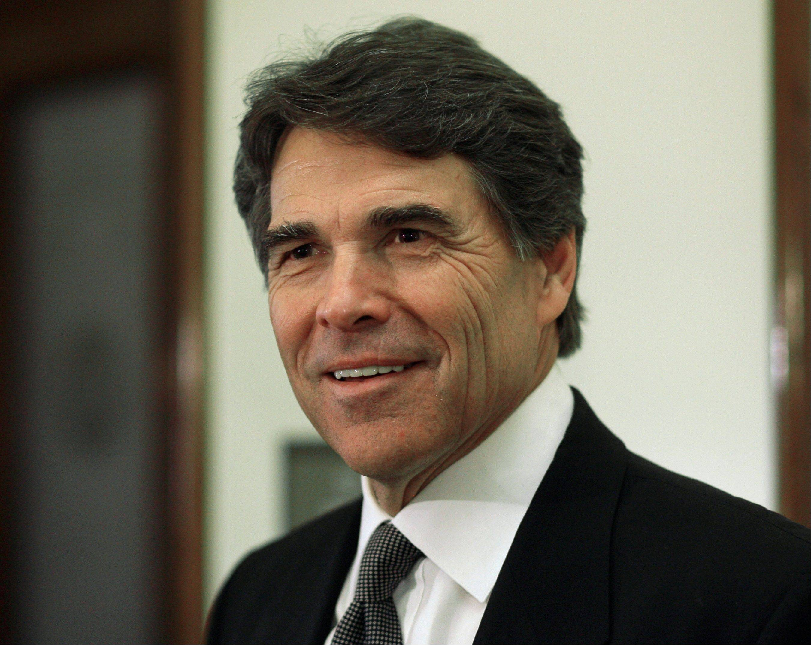Texas Gov. Rick Perry is visiting Illinois