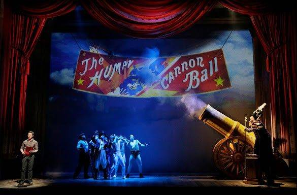 "For the chance to see the love of his life, Edward Bloom agrees to become a human cannonball in the musical stage adaptation of Tim Burton's 2003 film, ""Big Fish"" in its pre-Broadway run at Chicago's Oriental Theatre."