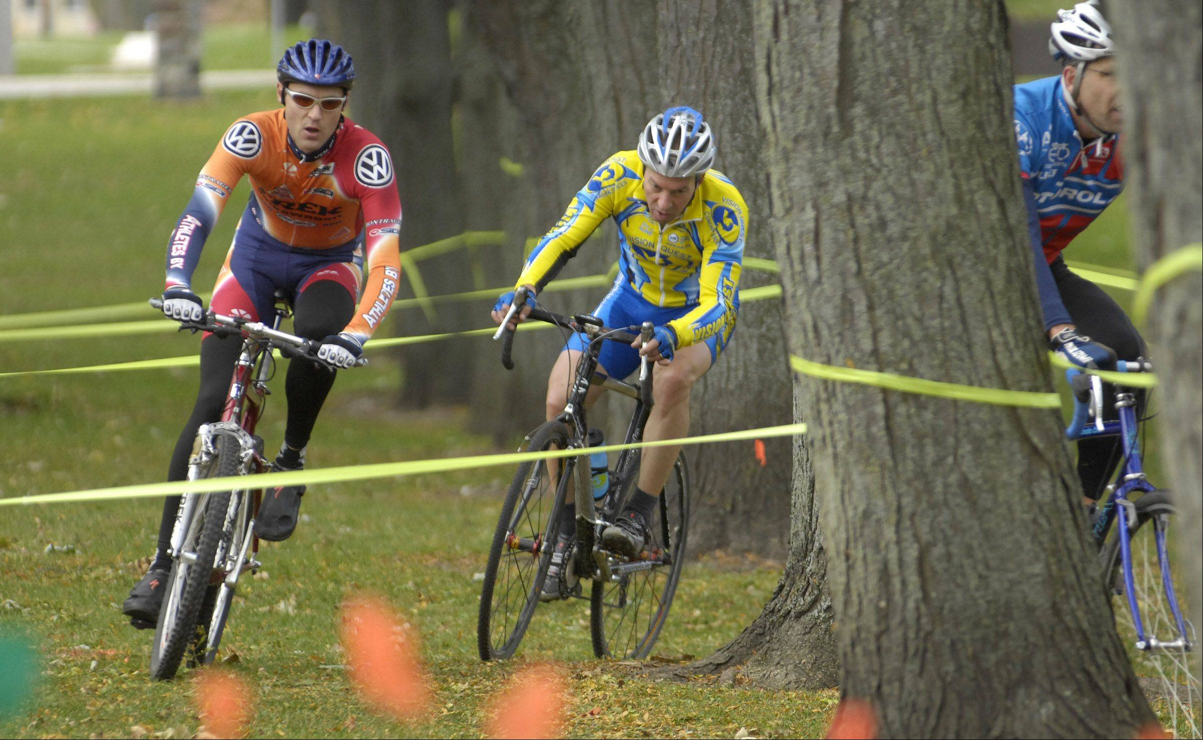 Competitors take part in the 2006 Chicago Cyclocross Cup bicycle race in Carpenter Park. Carpentersville leaders recently approved a master plan for the park in hopes of improving it and attracting more users.