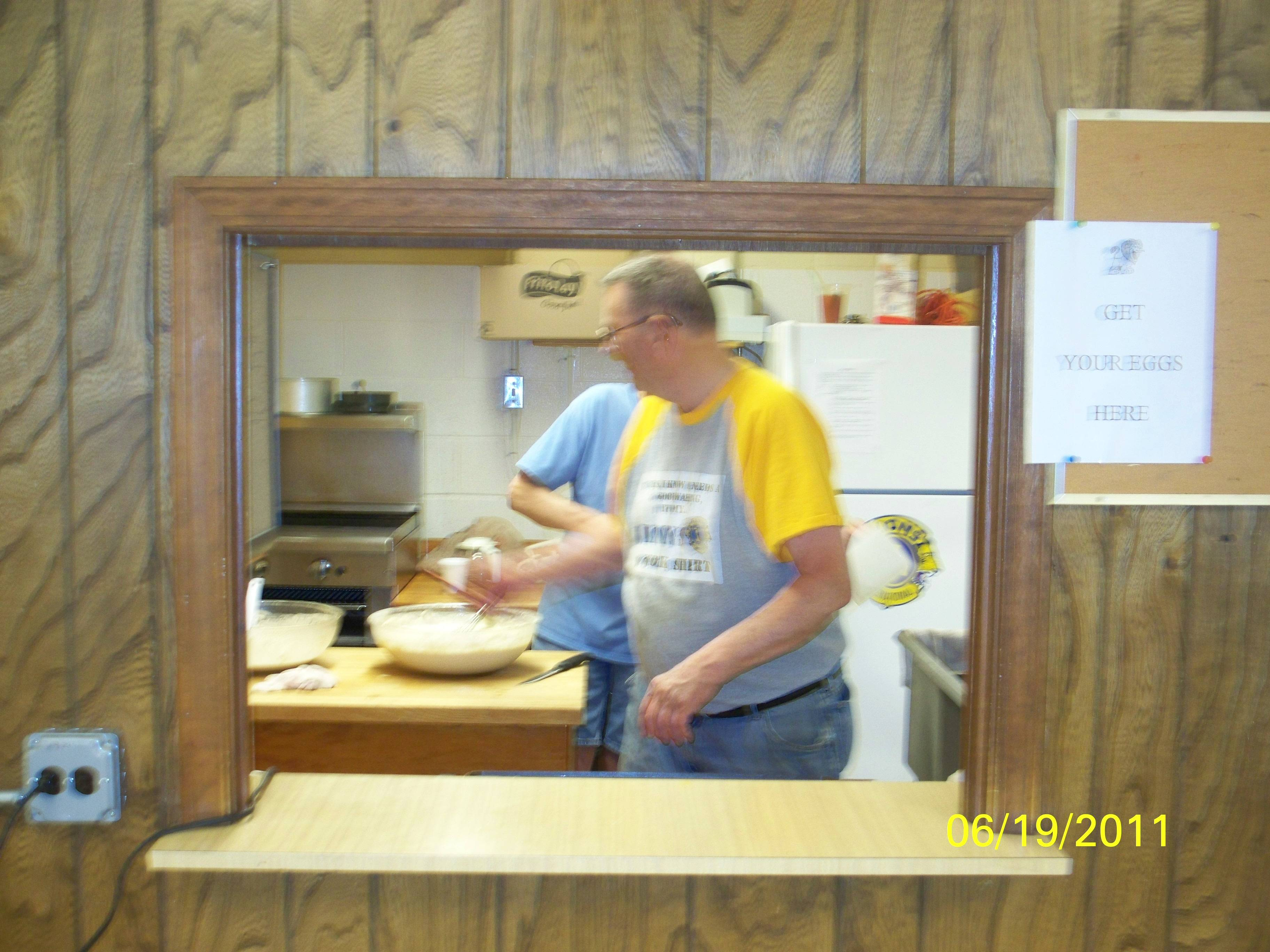 Lion Joe Groth in the Kitchen at the Lions Club
