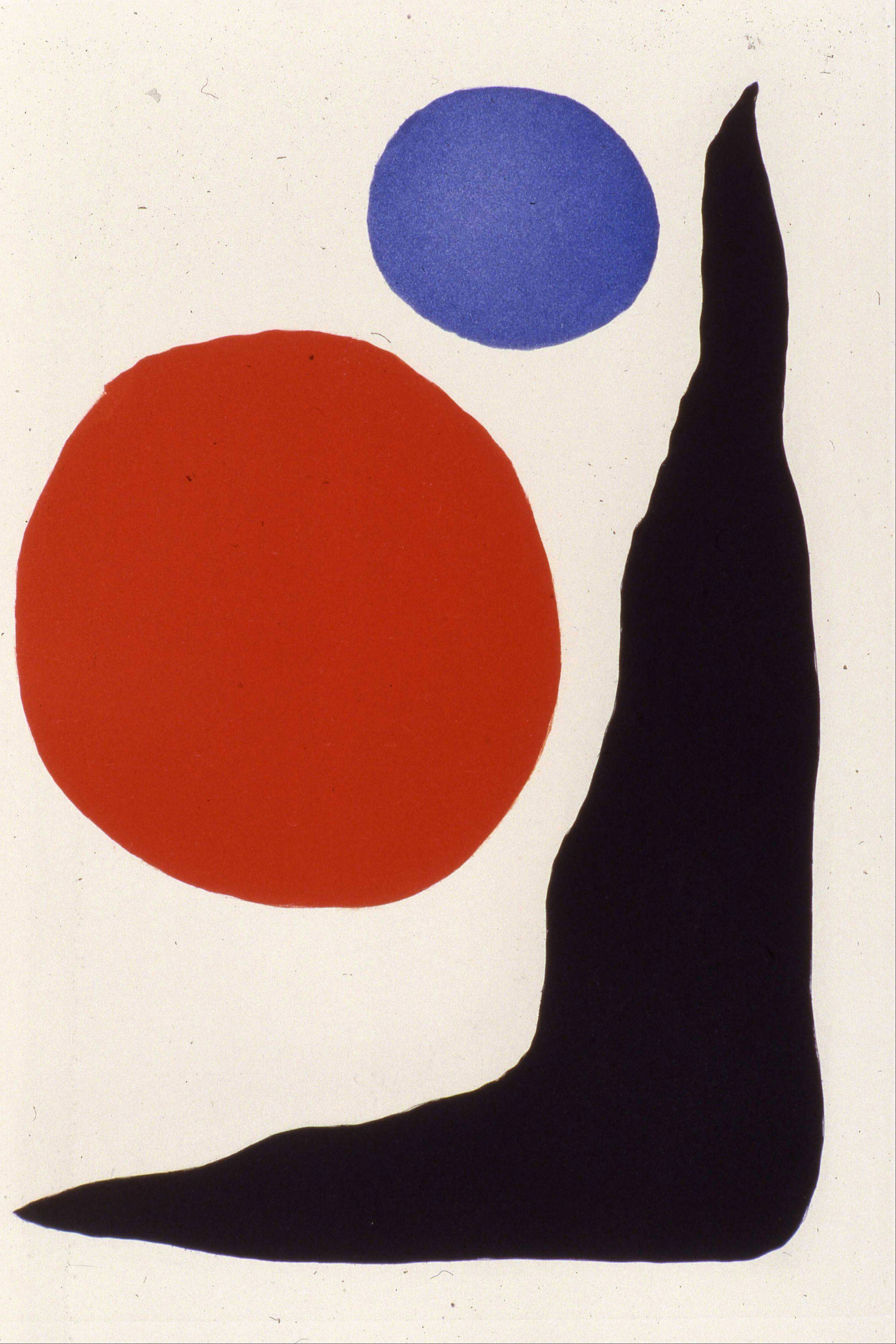 An Alexander Calder painting as part of the Modern Masters exhibit at the Lake County Discovery Museum.