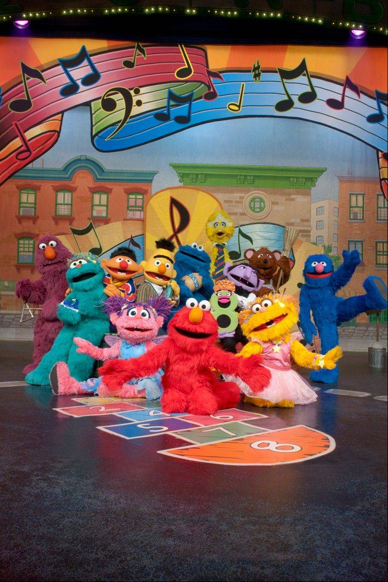 "Sesame Street Live brings ""Elmo Makes Music"" to the Rosemont Theatre from Wednesday, May 1, to Sunday, May 5."
