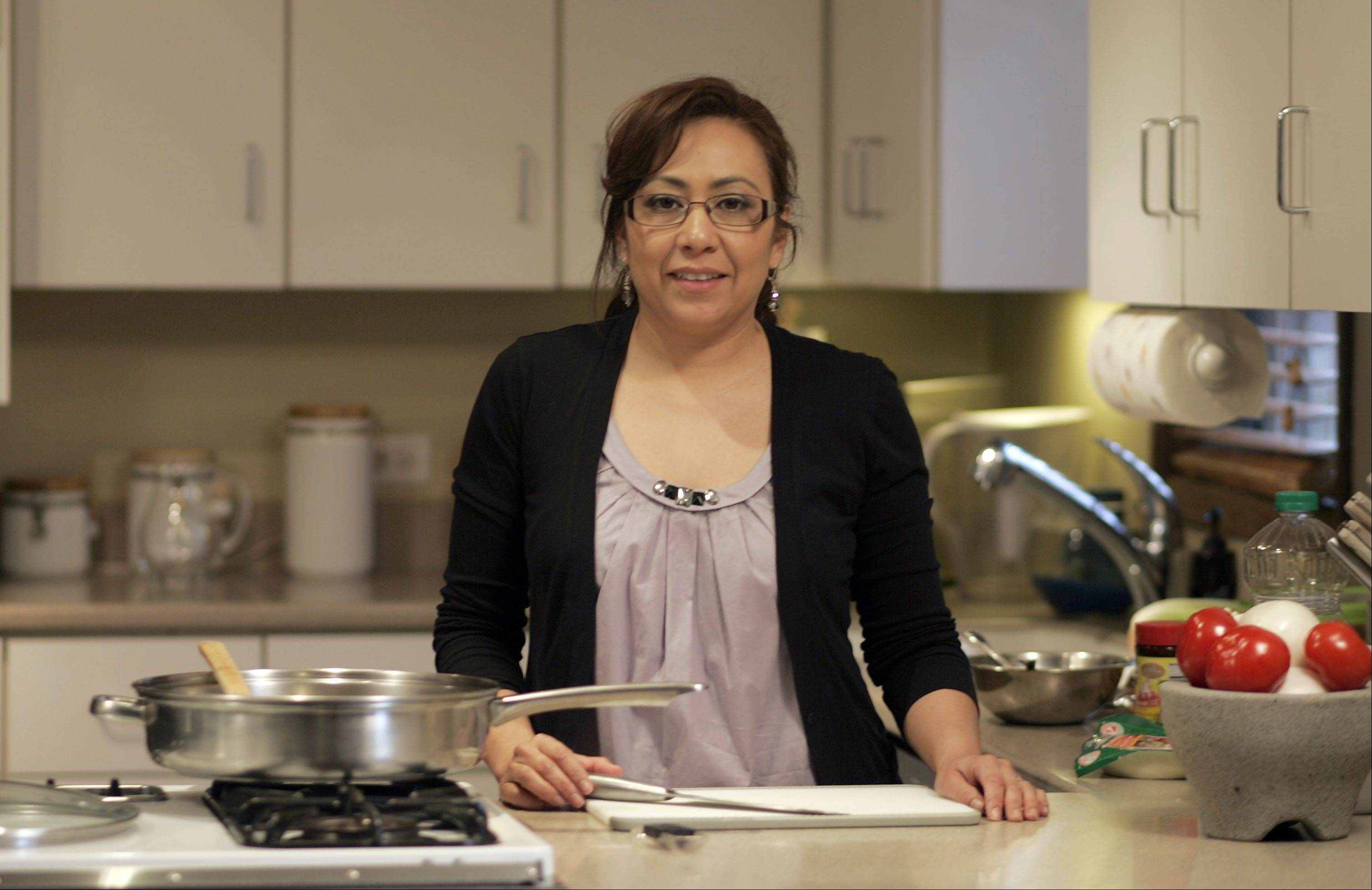 Yadira Soter creates authentic cuisine from her native Mexico in her St. Charles kitchen.