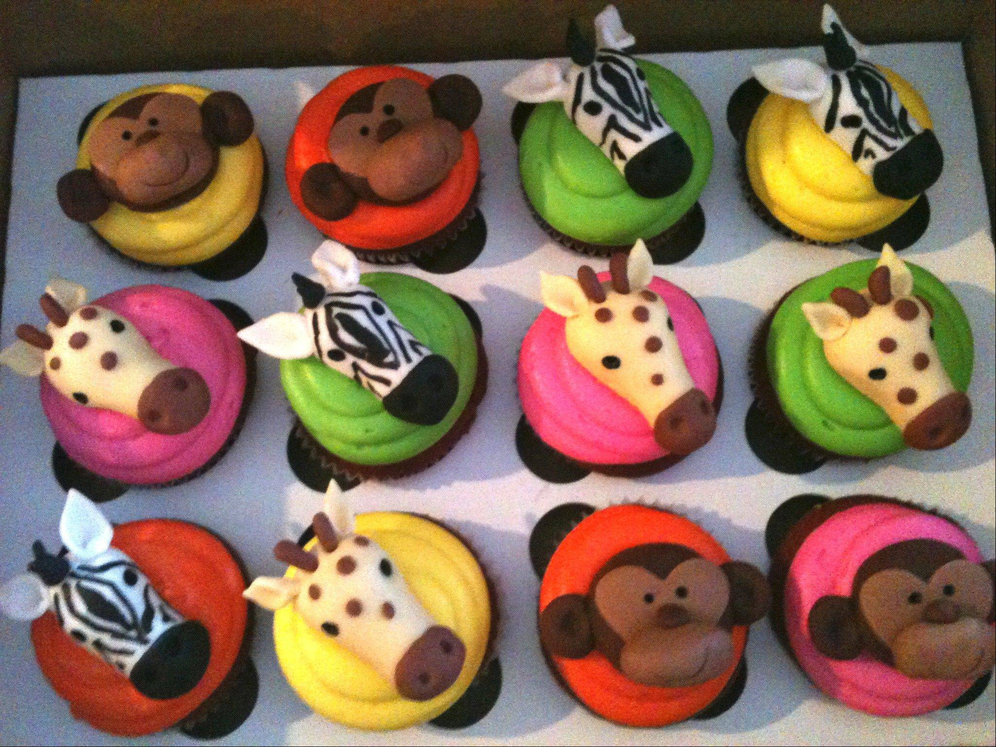 Sugar Monkey cupcakes can be customized to fit your child's birthday theme.
