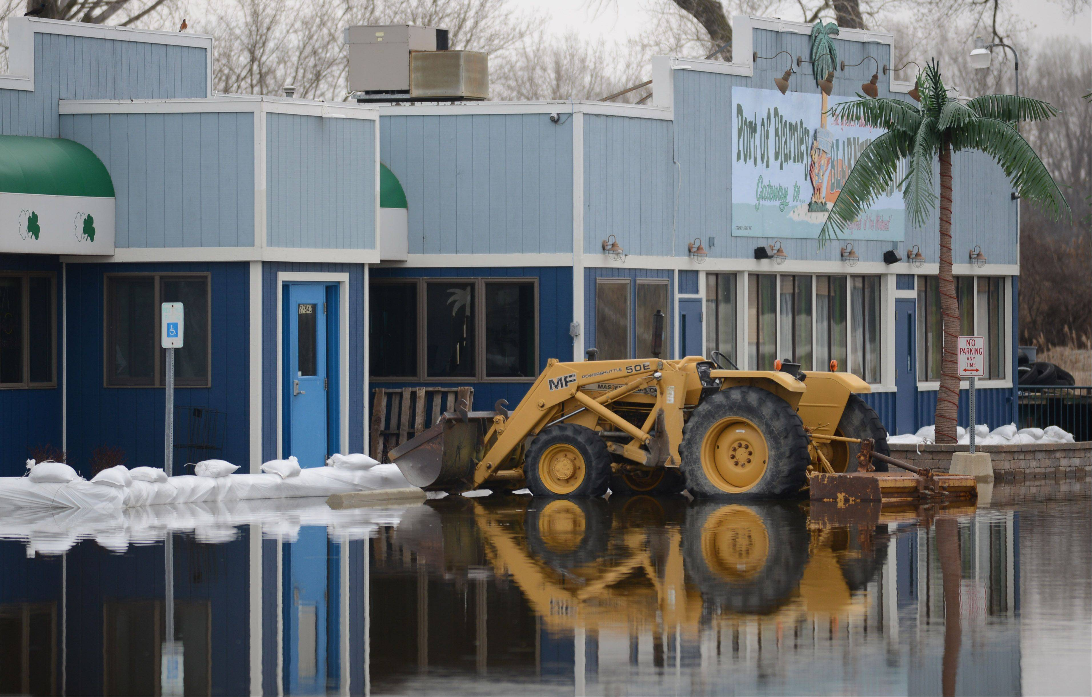 The Port of Blarney in Antioch Township is closed due to the flooding.