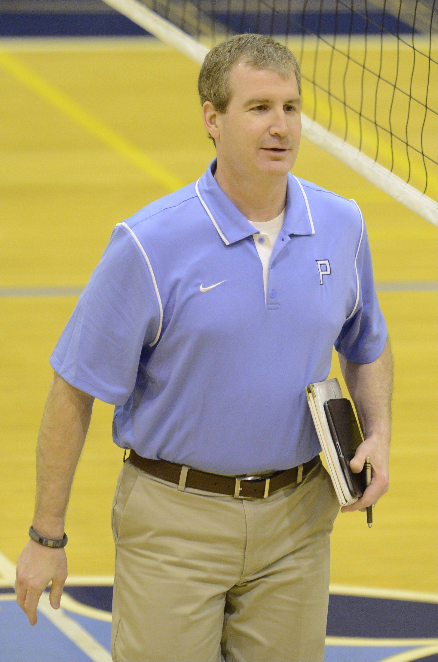 Prospect boys volleyball coach Mike Riedy.