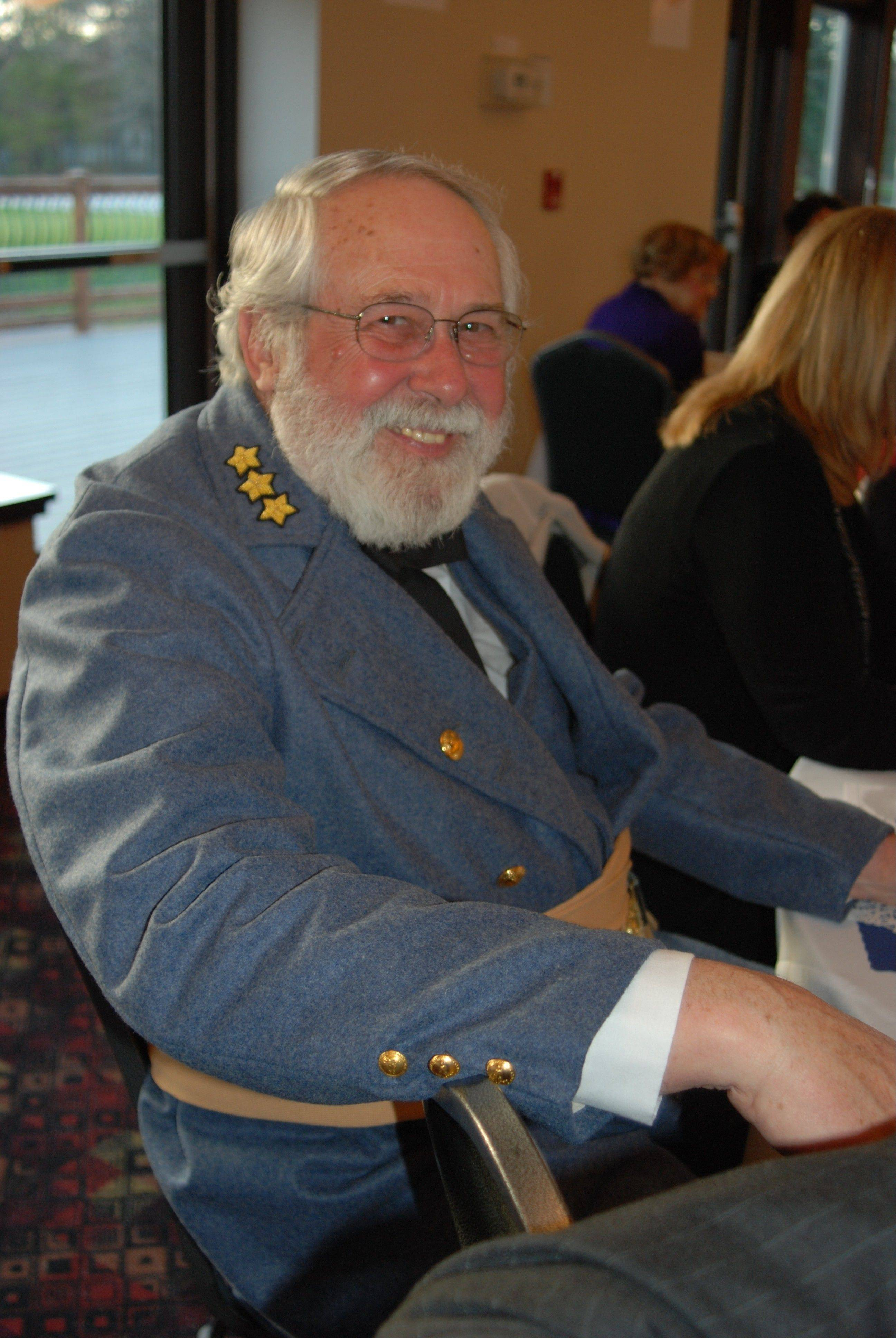 "Ed Juracek plays General Robert E. Lee during the ""History in the Headlines"" fundraiser hosted by the Mount Prospect Historical Society and the River Trails Park District Saturday, April 20."