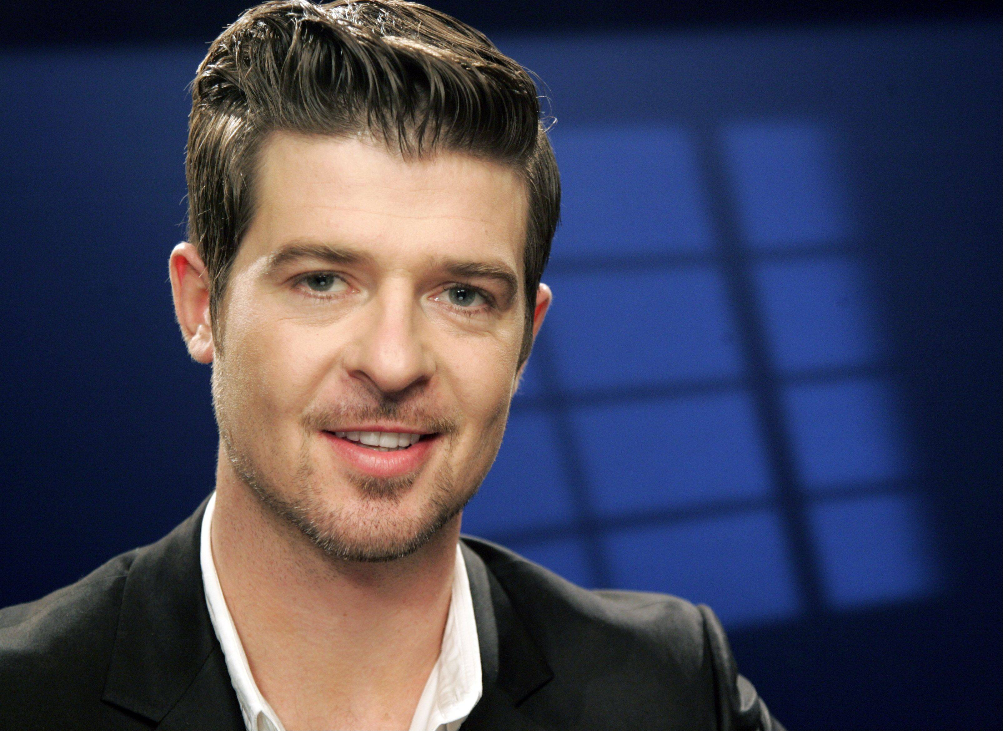 Robin Thicke is one the performers set for the 2013 Taste of Chicago.