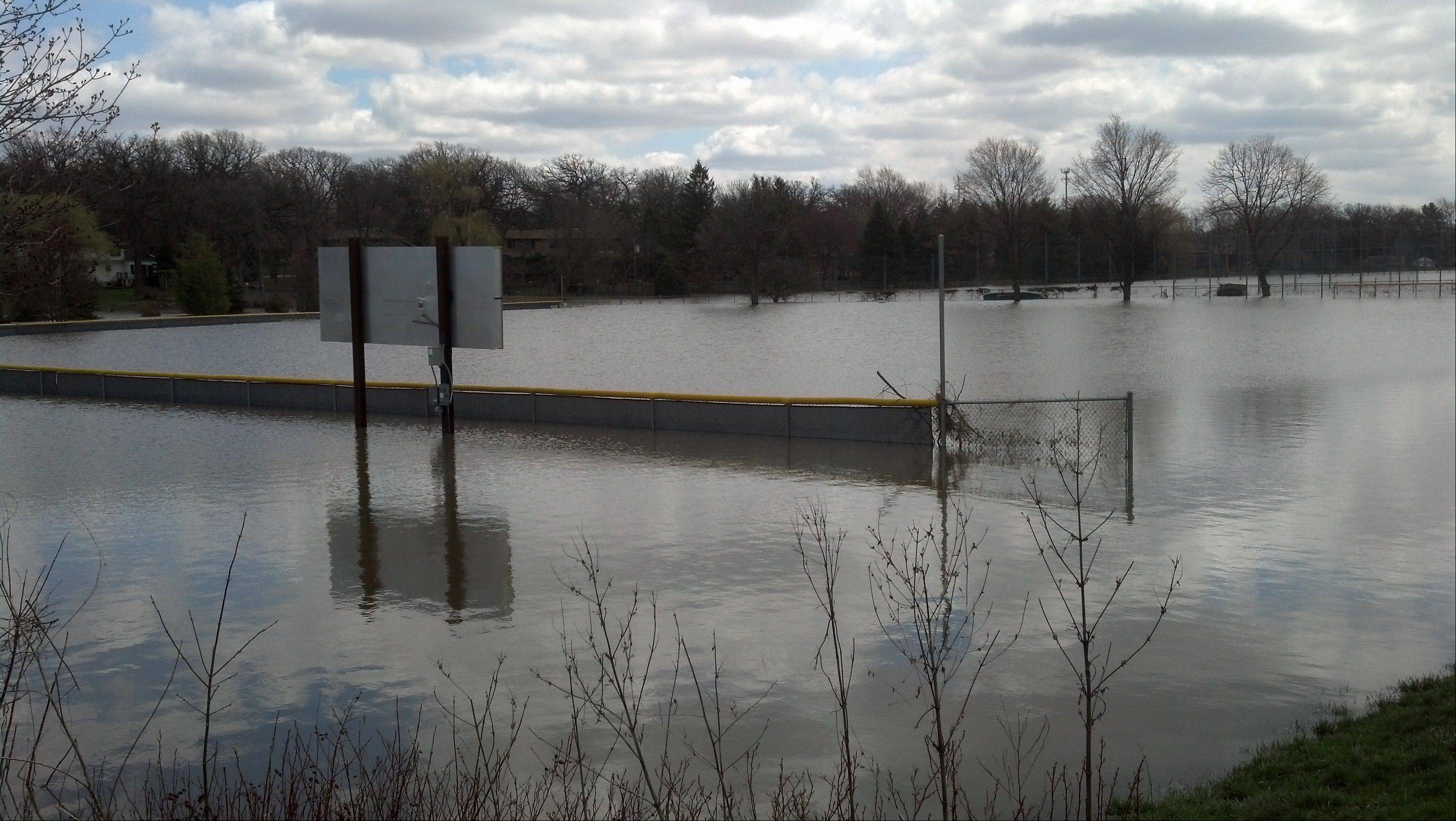 Lisle's field still a water hazard
