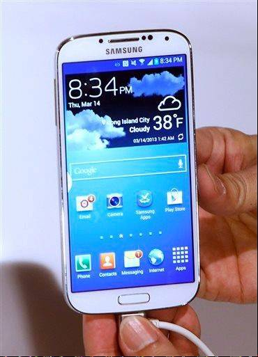 The new Samsung Galaxy S4 .