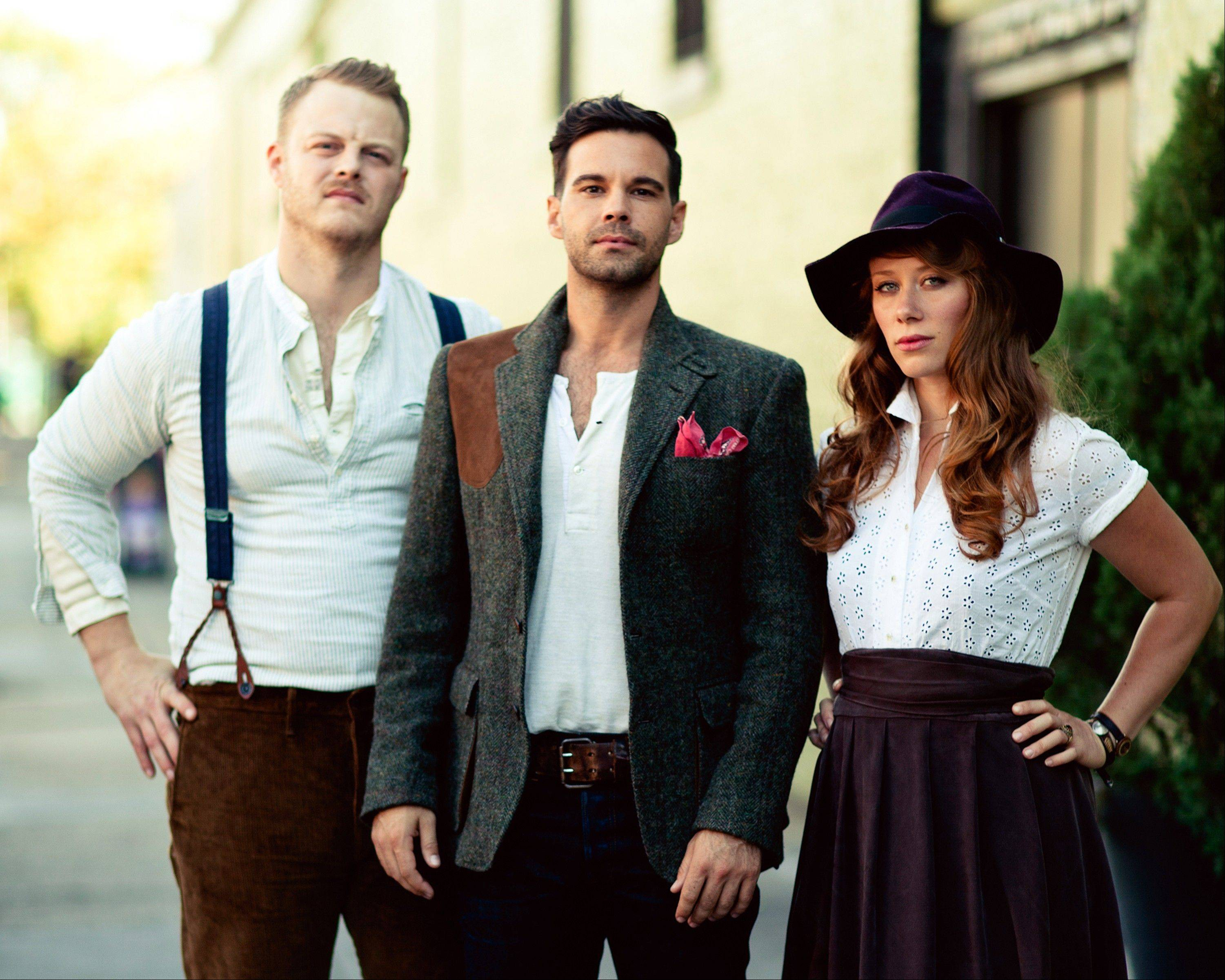 The Lone Bellow: from left, Brian Elmquist, Zach Williams, and Kanene Pipkin