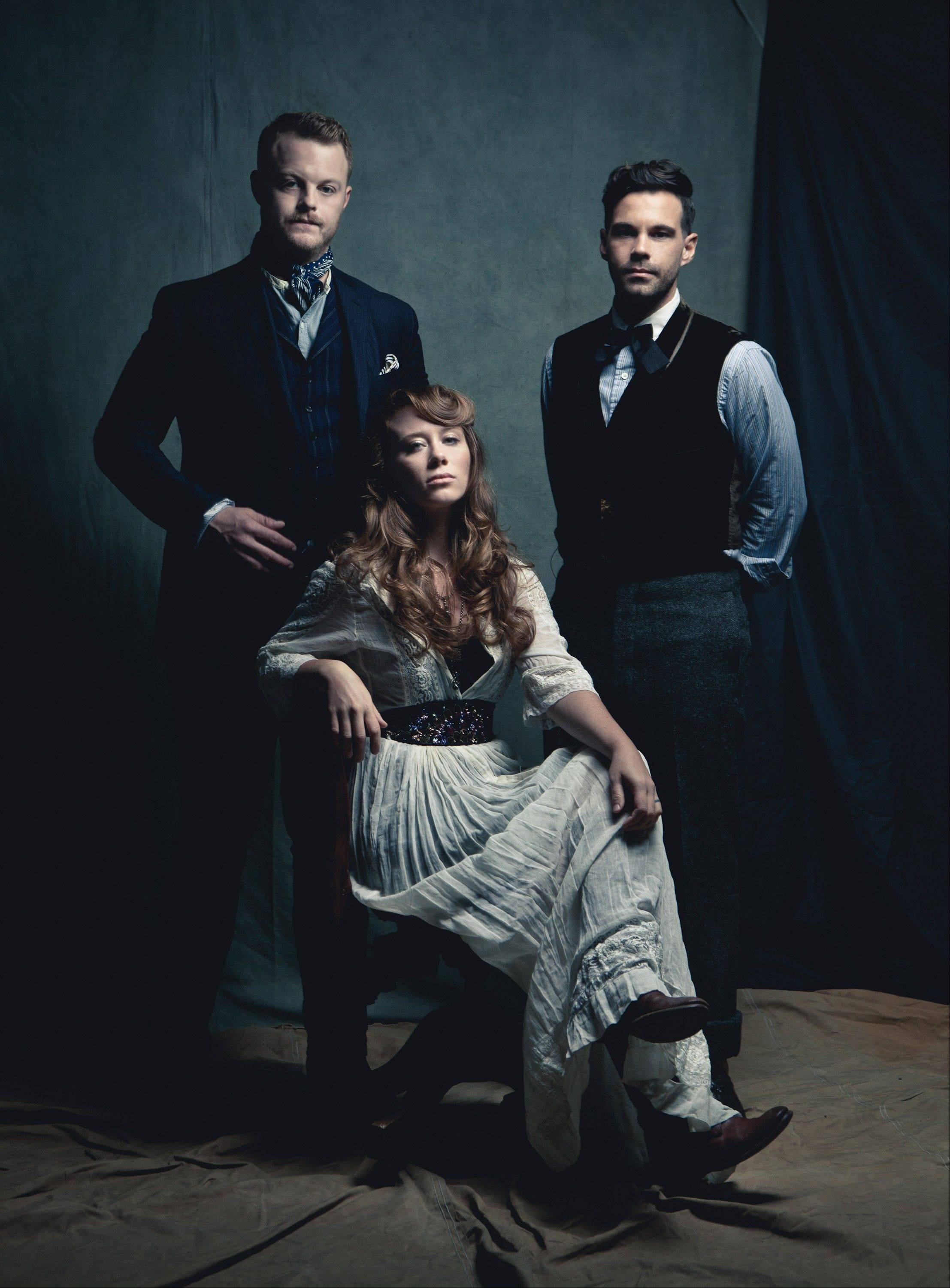 The Lone Bellow: from left, Brian Elmquist, Kanene Pipkin, seated, and Zach Williams