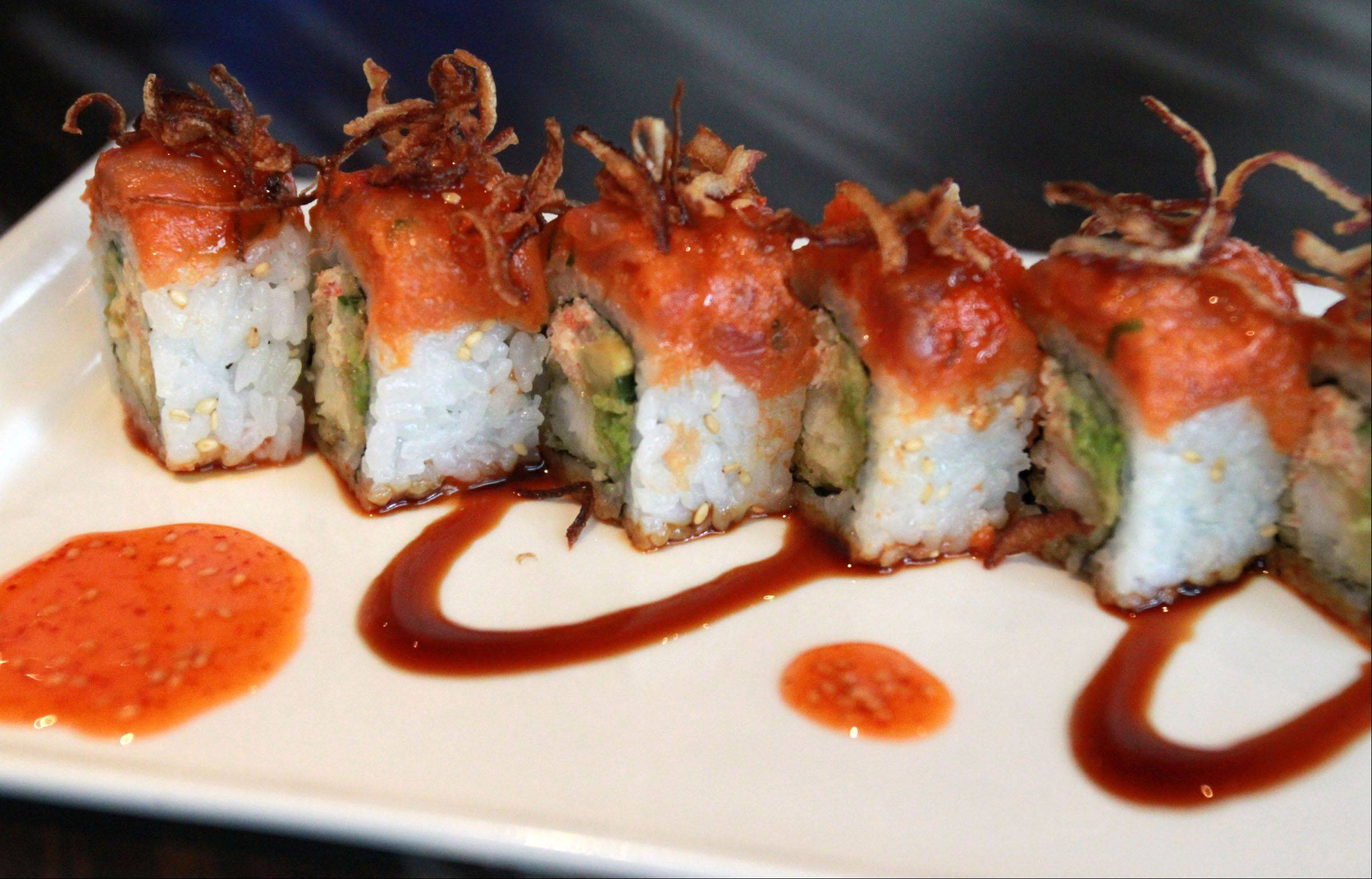 Tuna sushi is among the varied options at e+o Food and Drink at Randhurst Village in Mount Prospect.