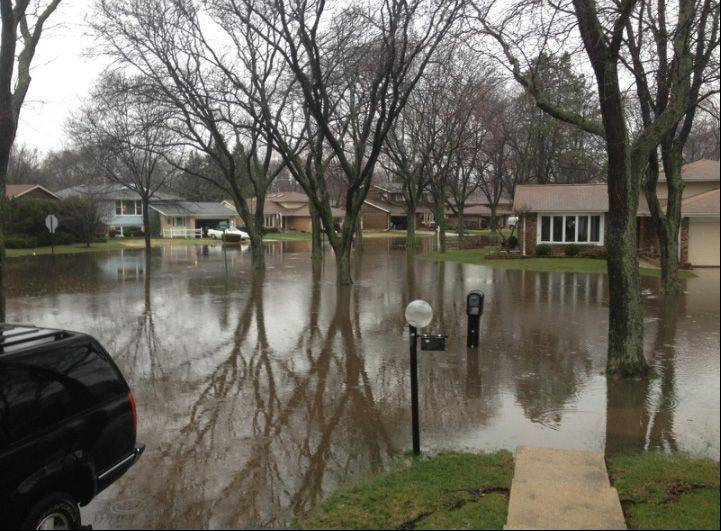 Flooding last week in Mount Prospect.