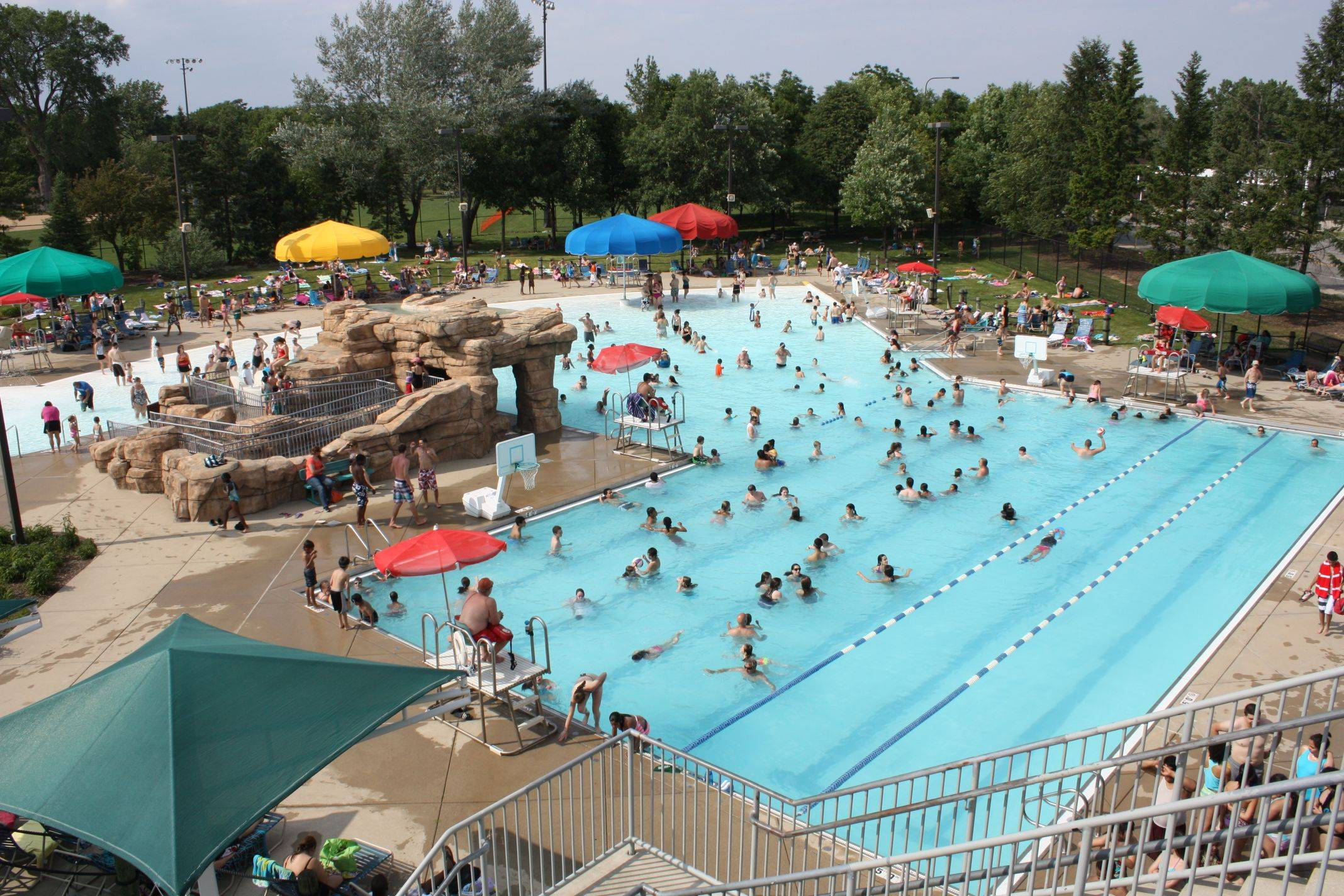 Family Aquatic Center is the largest of Palatine Park District's three pools.
