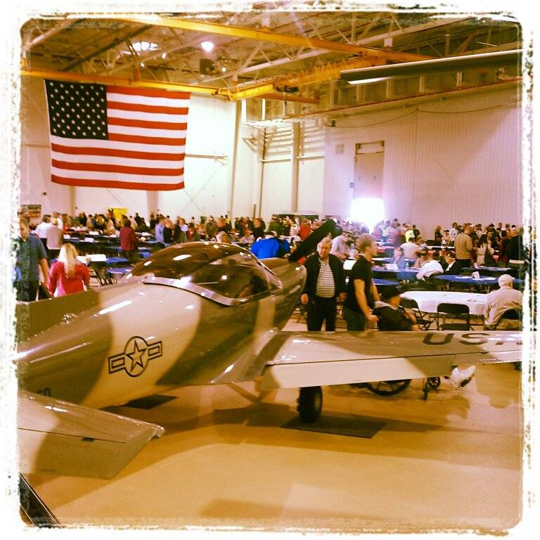 2012 event inside Calamos Investment's donated hangar at the DuPage Airport.  An awesome venue!
