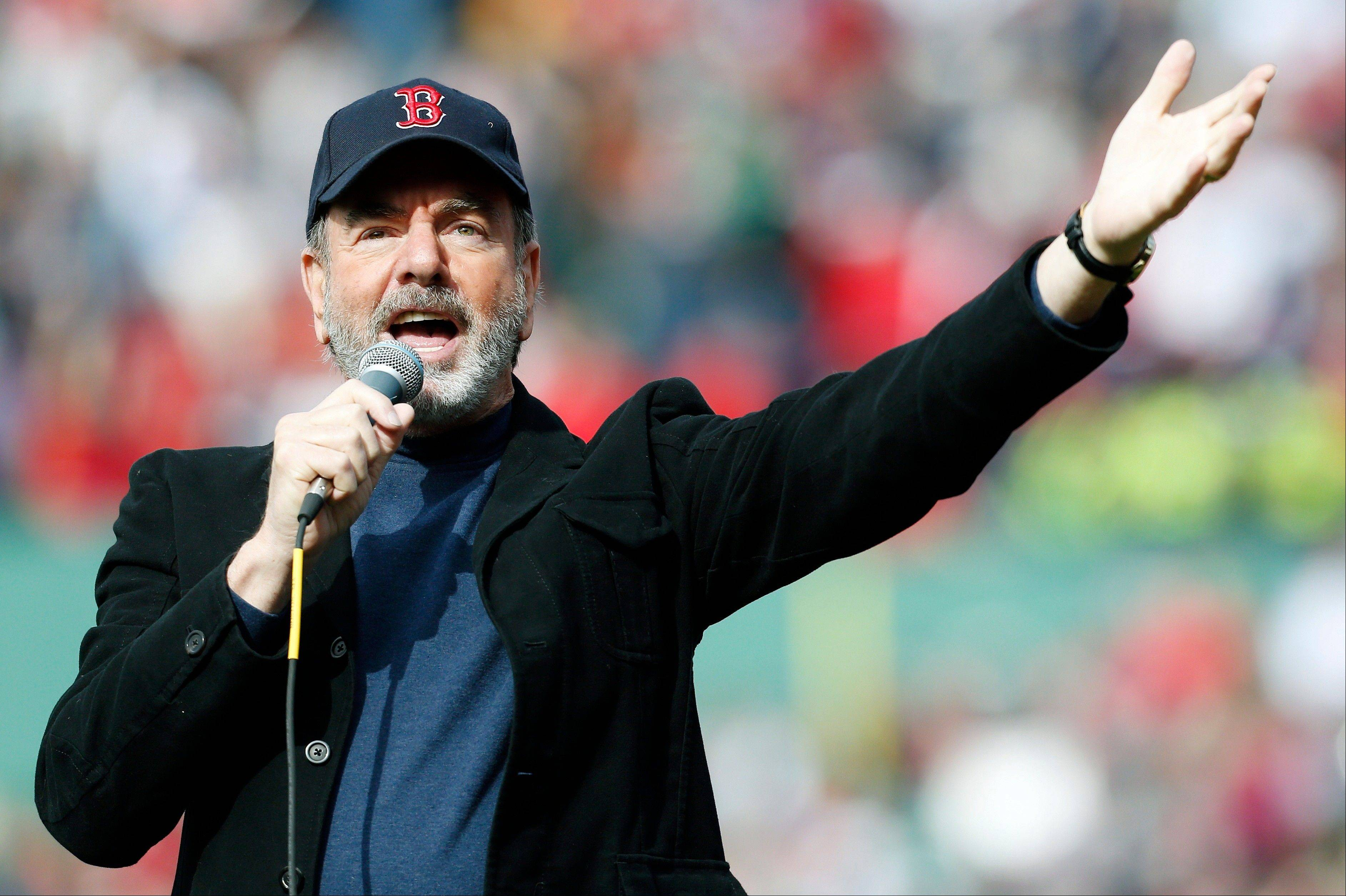 Neil Diamond sang �Sweet Caroline� in the eighth inning of last Saturday�s baseball game between the Boston Red Sox and the Kansas City Royals in Boston. Sales for Neil Diamond�s �Sweet Caroline� are up by 597 percent a week after the tune has become a source of comfort following bombings in Boston last week.