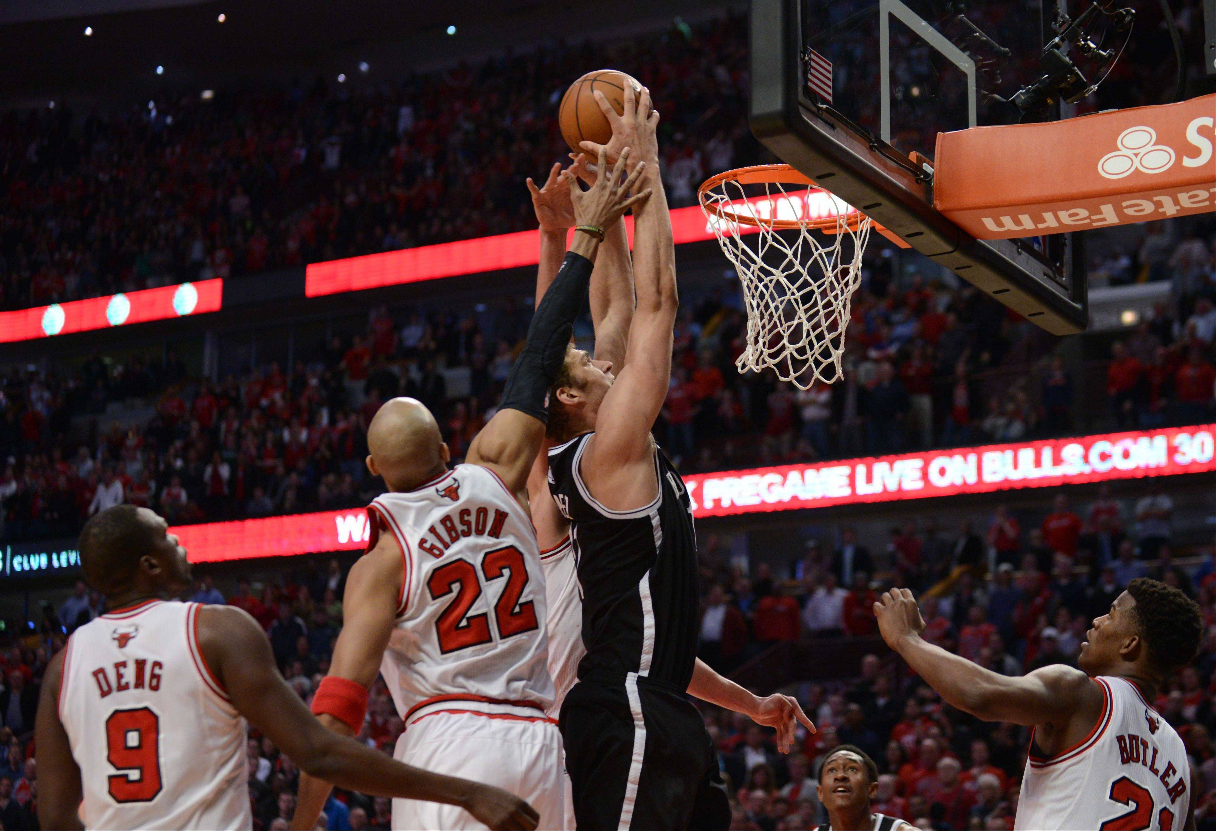 Game 3 of the NBA Eastern Conference first-round playoffs between the Chicago Bulls and Brooklyn Nets at 7 p.m. Thursday at the United Center, Chicago.