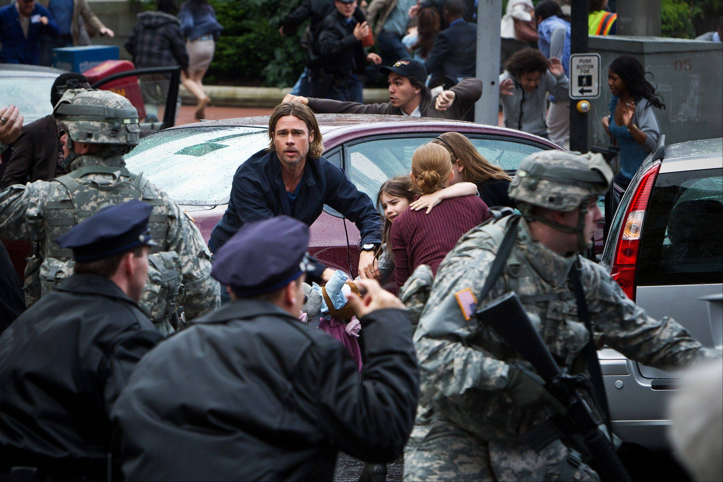 "Brad Pitt as Gerald Lane in the upcoming film, ""World War Z."""
